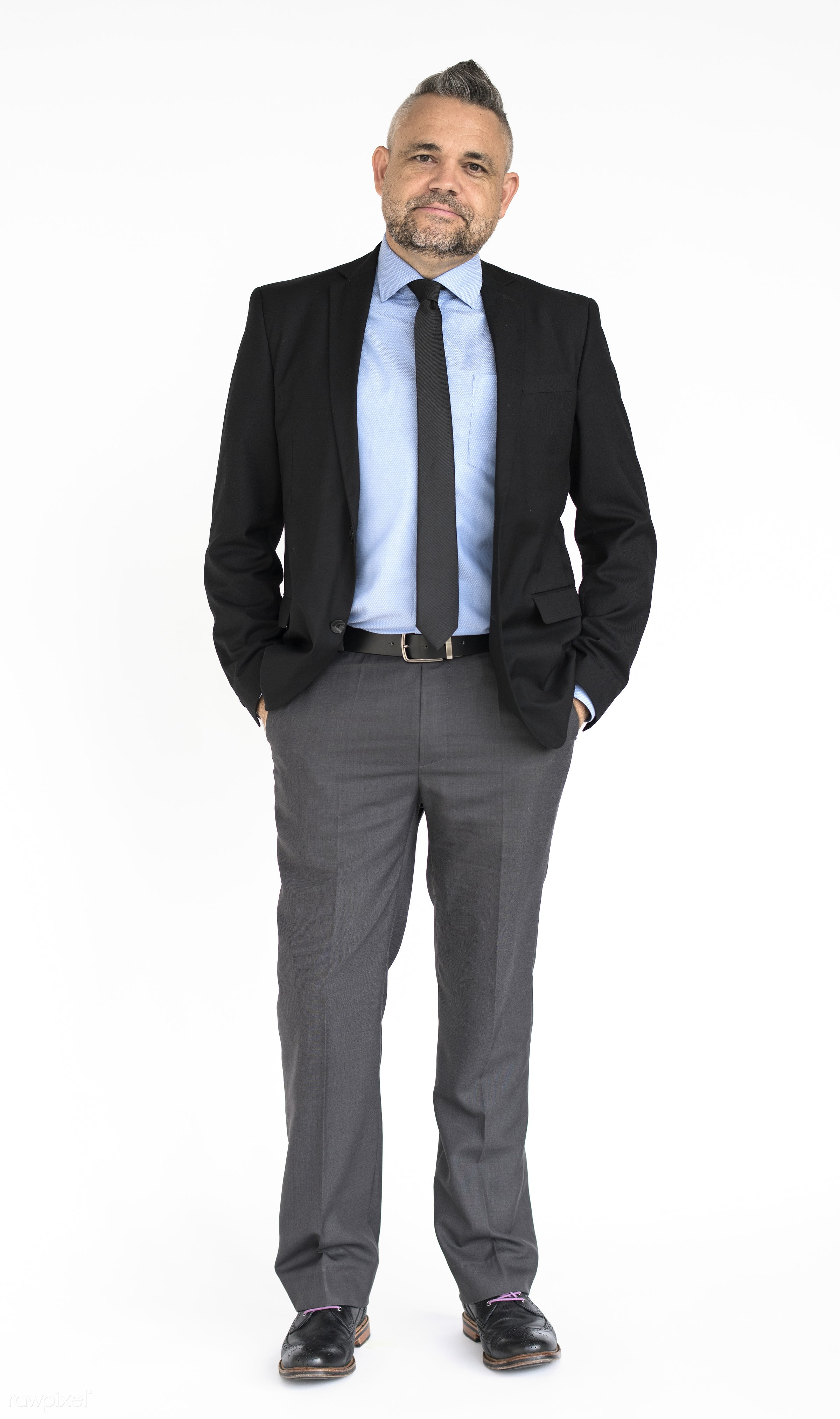 Portrait of a dapper businessman - adult, attractive, background, business, businessman, cheerful, confident, dapper,...
