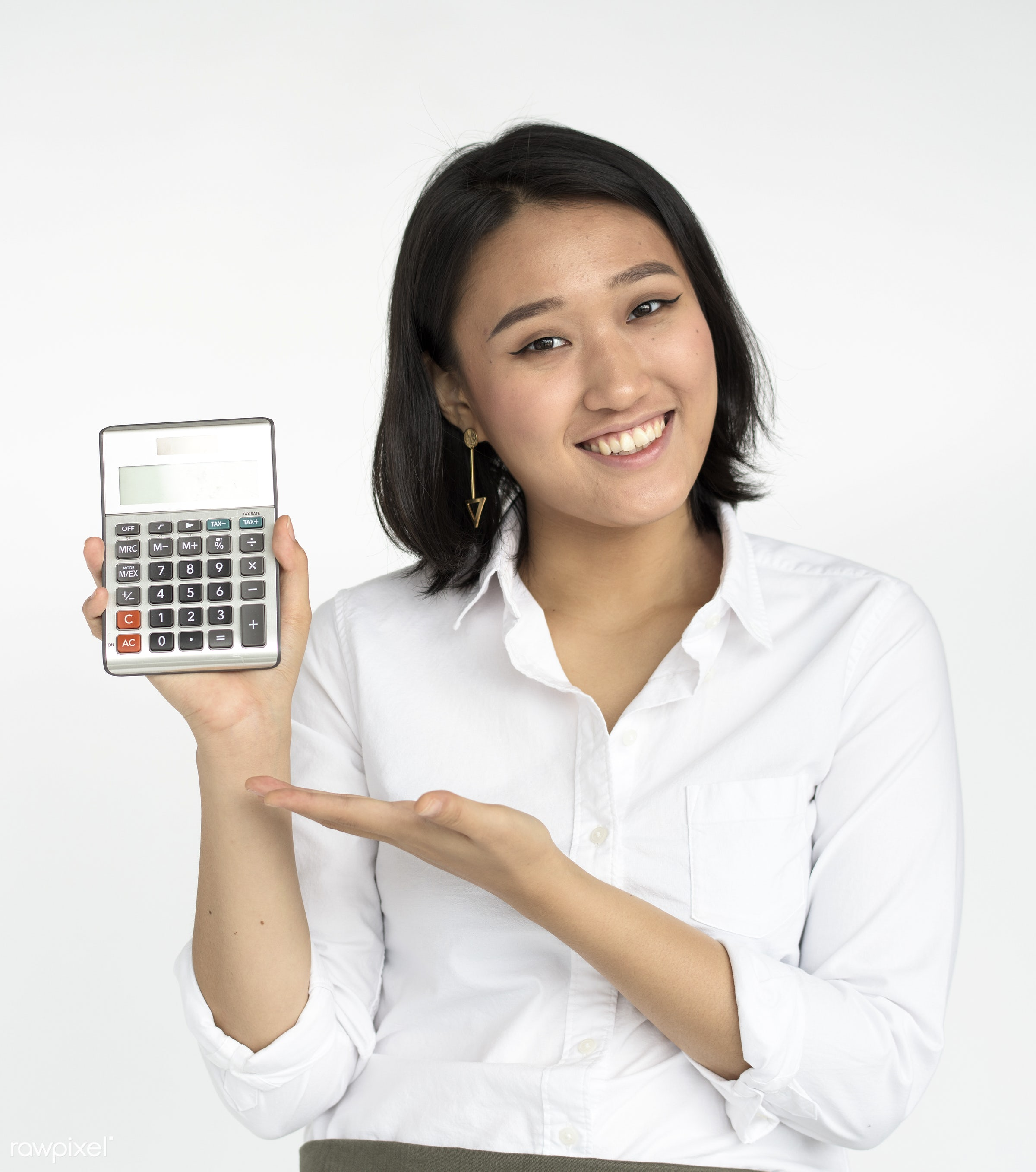 studio, expression, person, holding, paper, calculate, one, pretty, people, business, modern, girl, woman, attractive,...