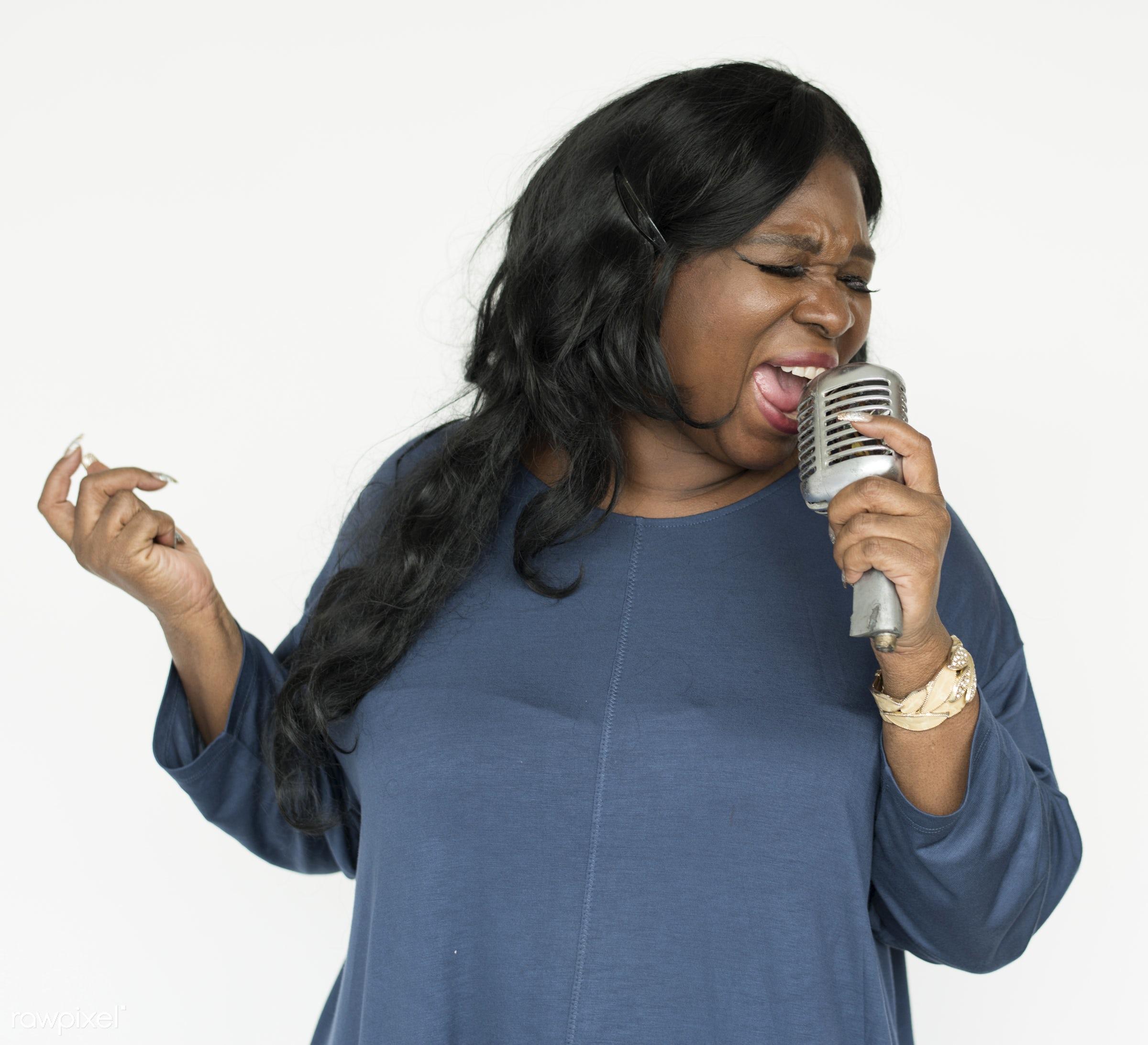 Portrait of a beautiful mature African American woman - african american, african descent, background, beautiful, casual,...