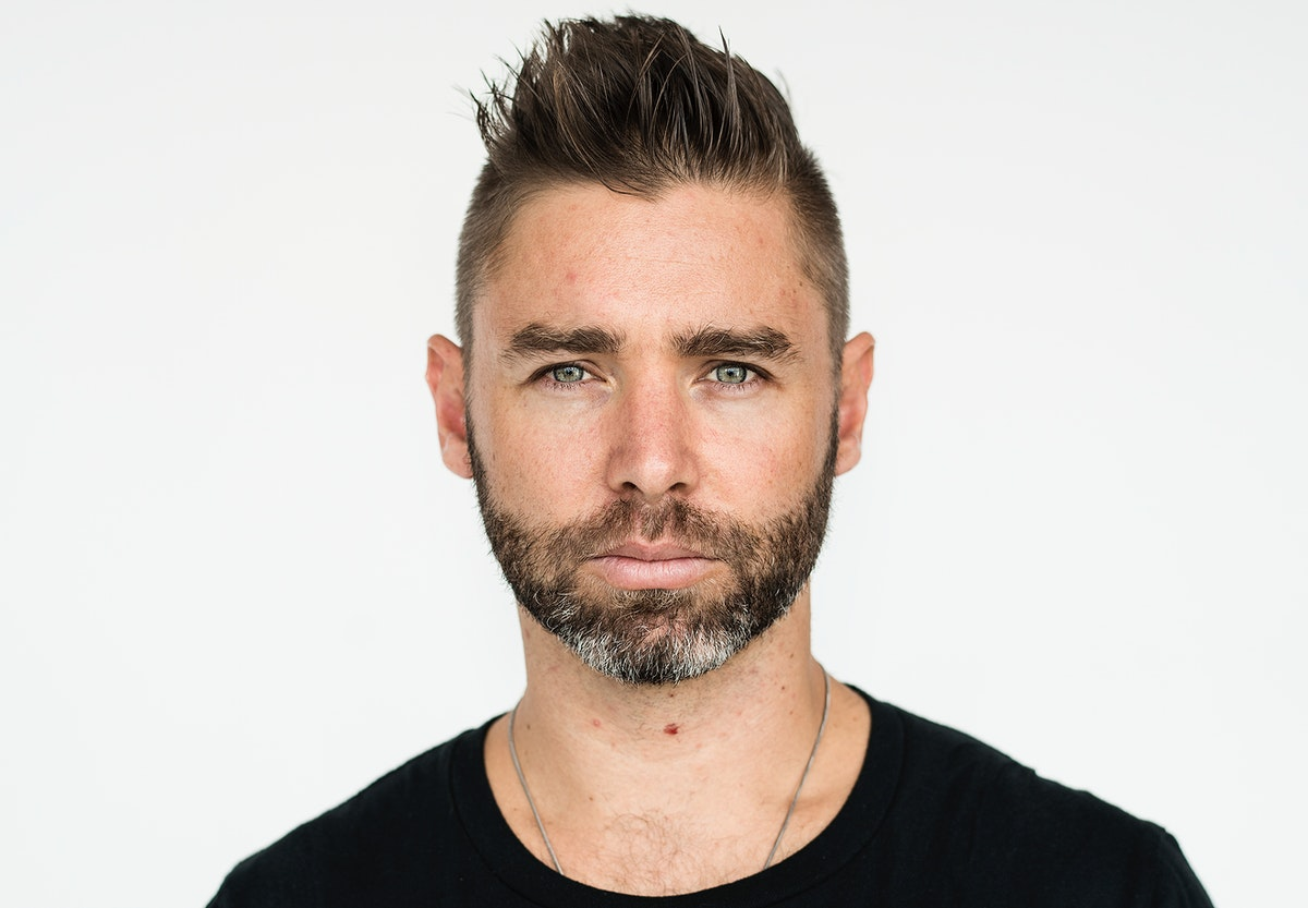 Worldface-British guy in a white background