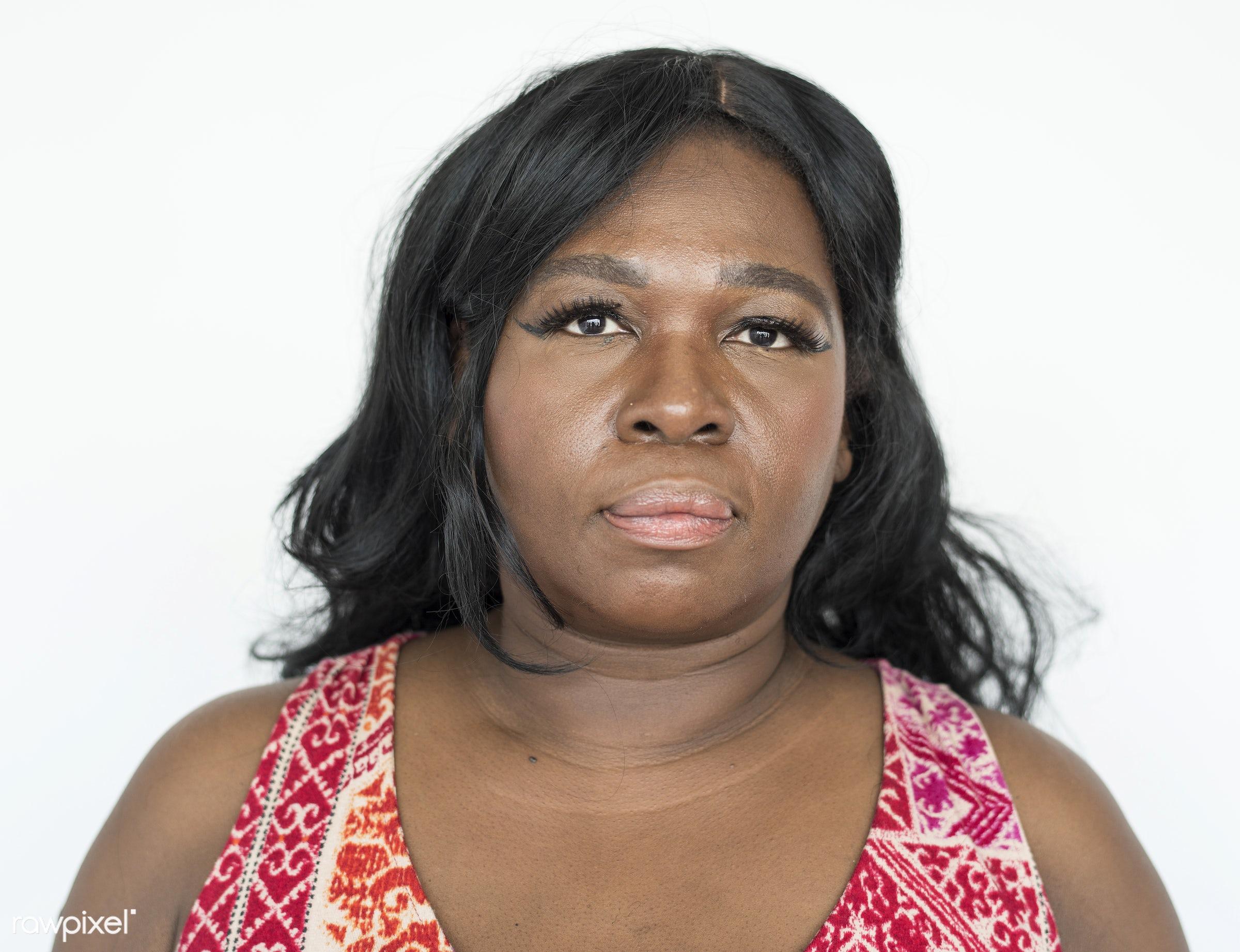 Portrait of a beautiful mature African American woman - african, african american, african descent, background, beautiful,...