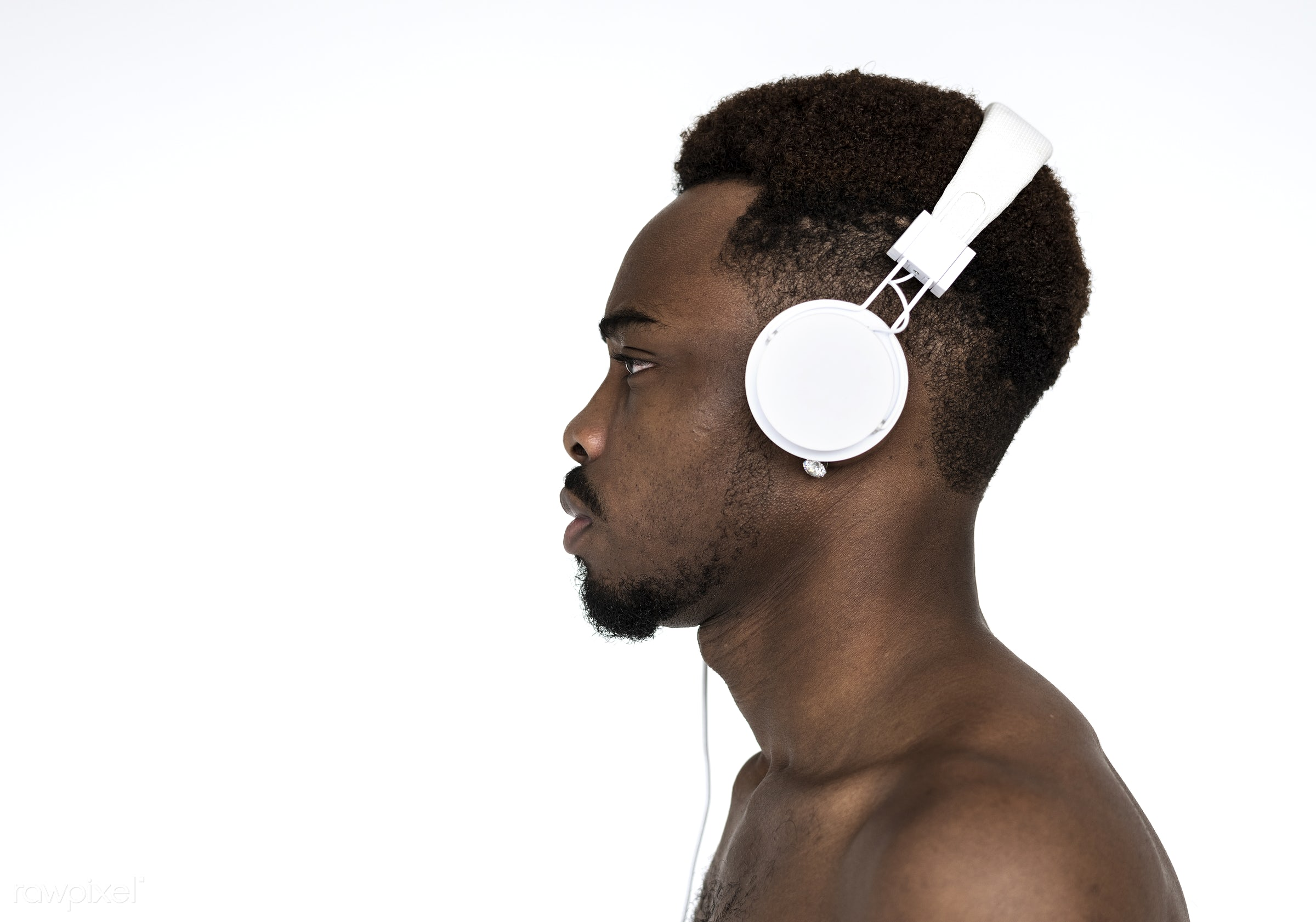 expression, studio, model, person, african, people, race, headphone, style, casual, lifestyle, man, music, isolated, male,...