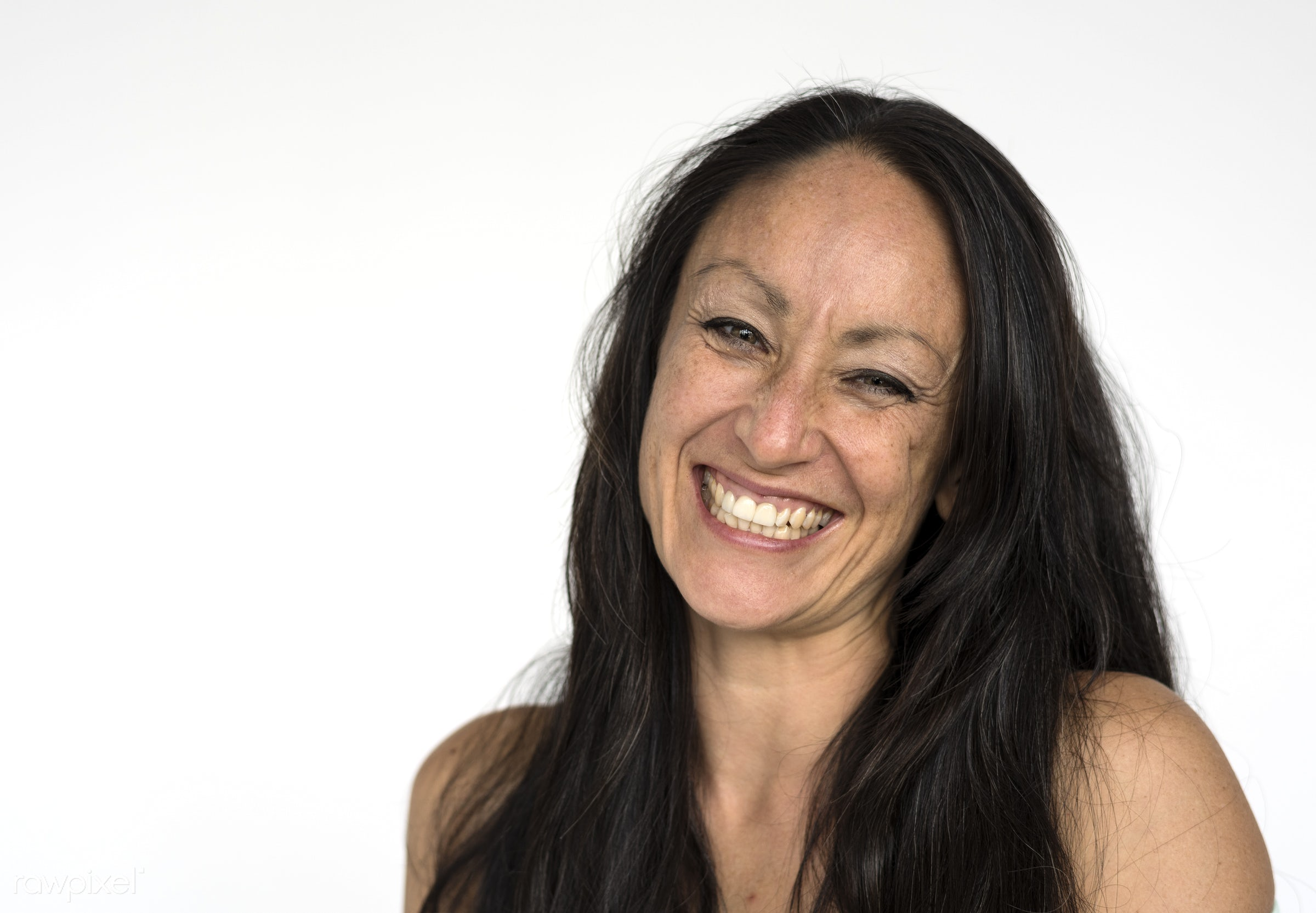 studio, expression, person, people, race, caucasian, woman, lifestyle, westerner, smile, positive, cheerful, isolated, white...
