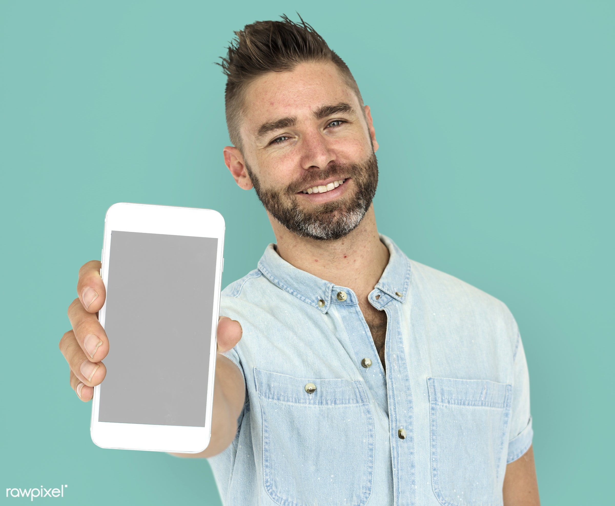 expression, studio, person, phone, portable, technology, holding, people, positivity, caucasian, mobile phone, positive,...