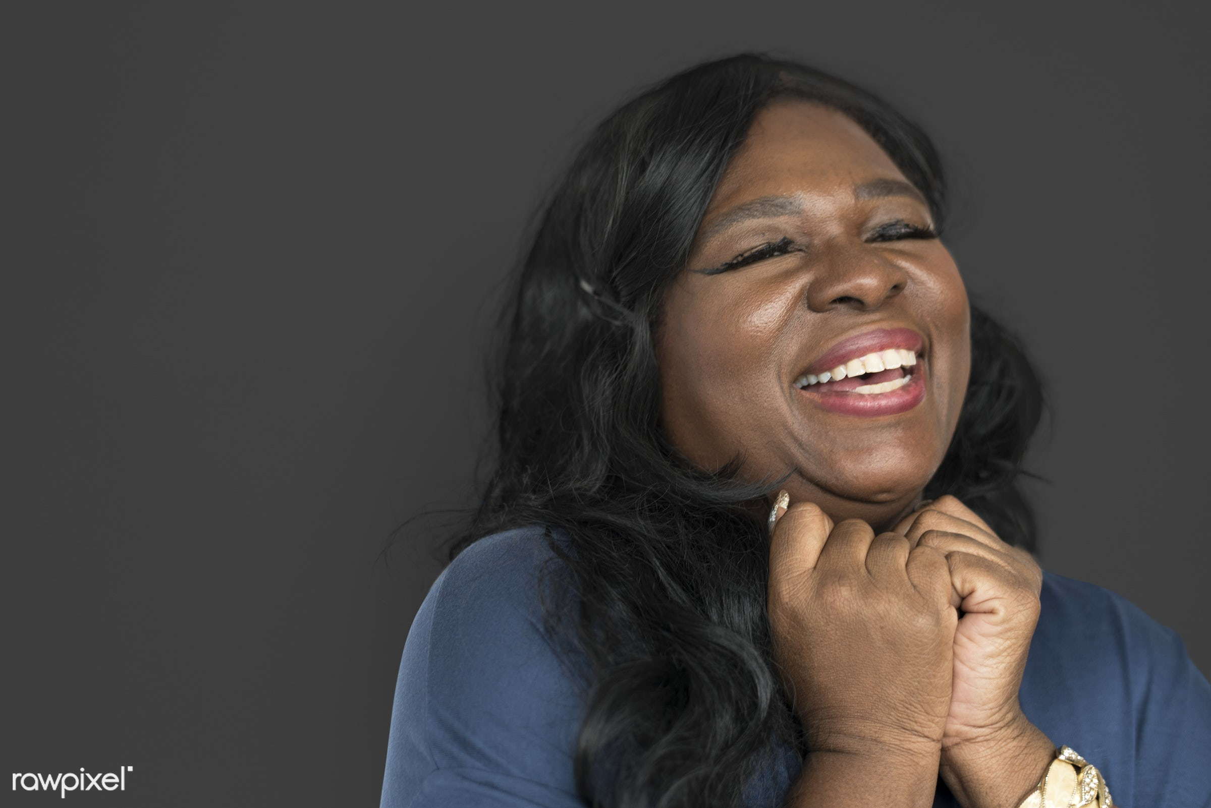 studio, expression, person, model, chubby, race, people, style, woman, lifestyle, casual, cheerful, smiling, isolated,...