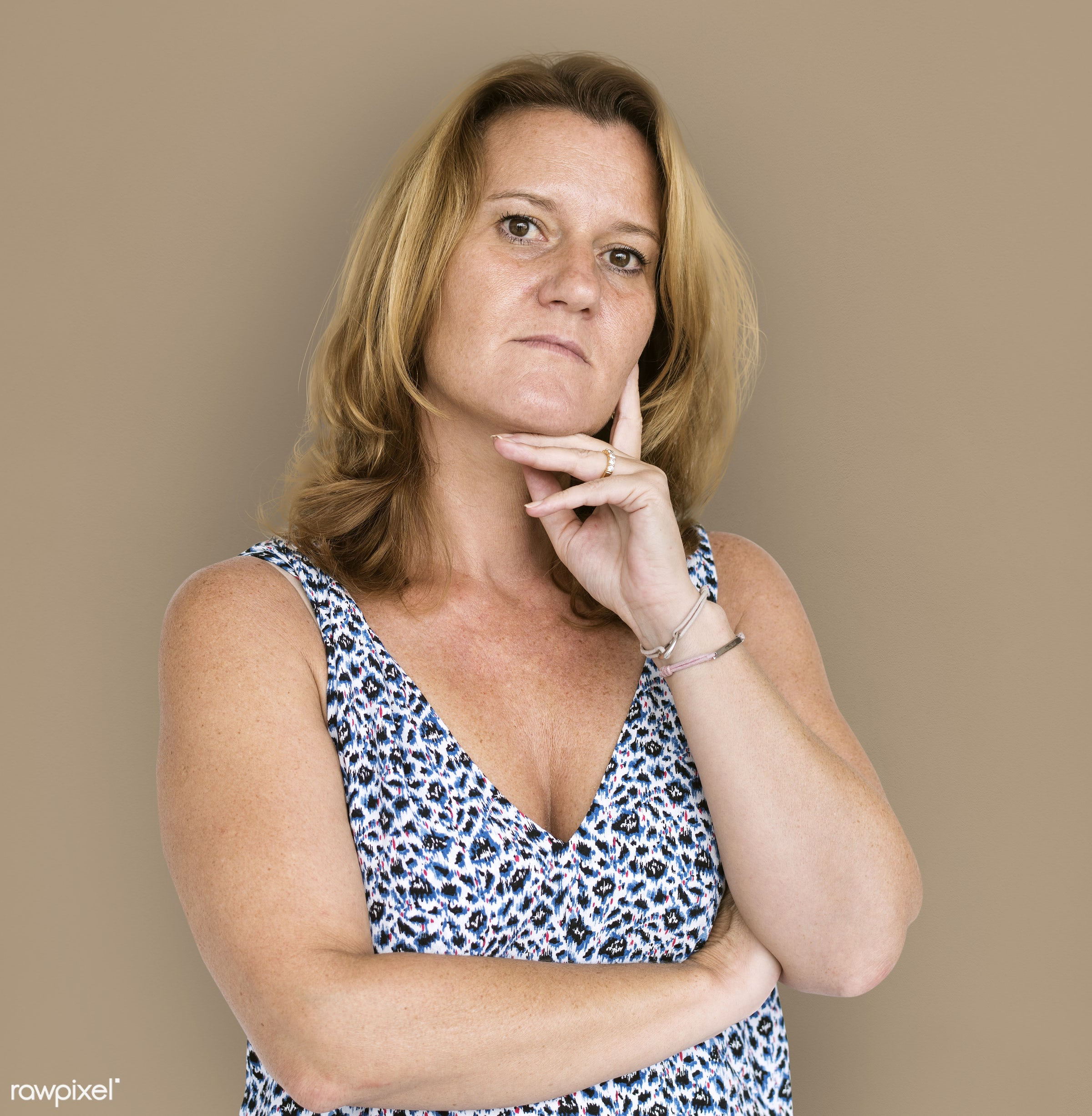 studio, person, people, business, wavy, curious, solo, upset, woman, serious, unhappy, isolated, half-body, adult,...