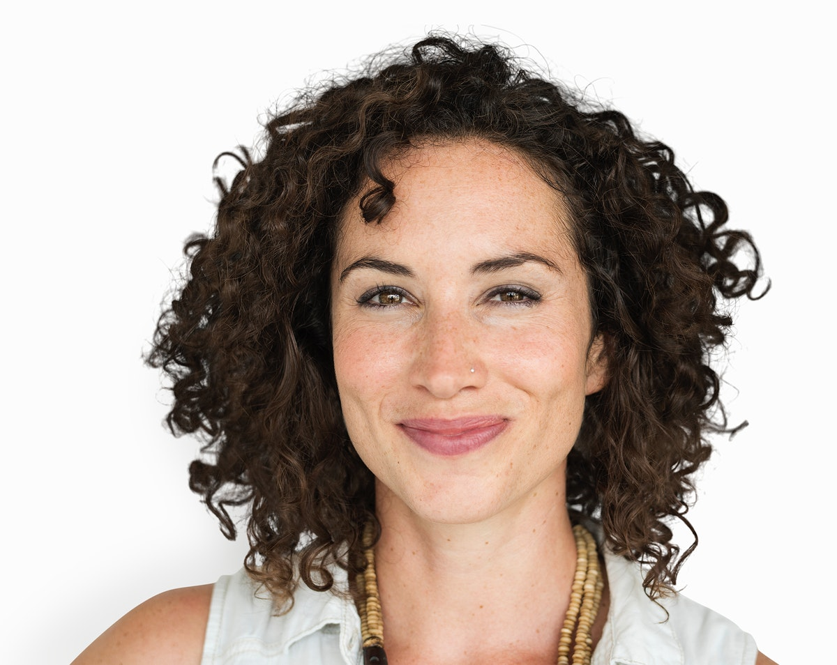 Caucasian Woman Smiling Casual