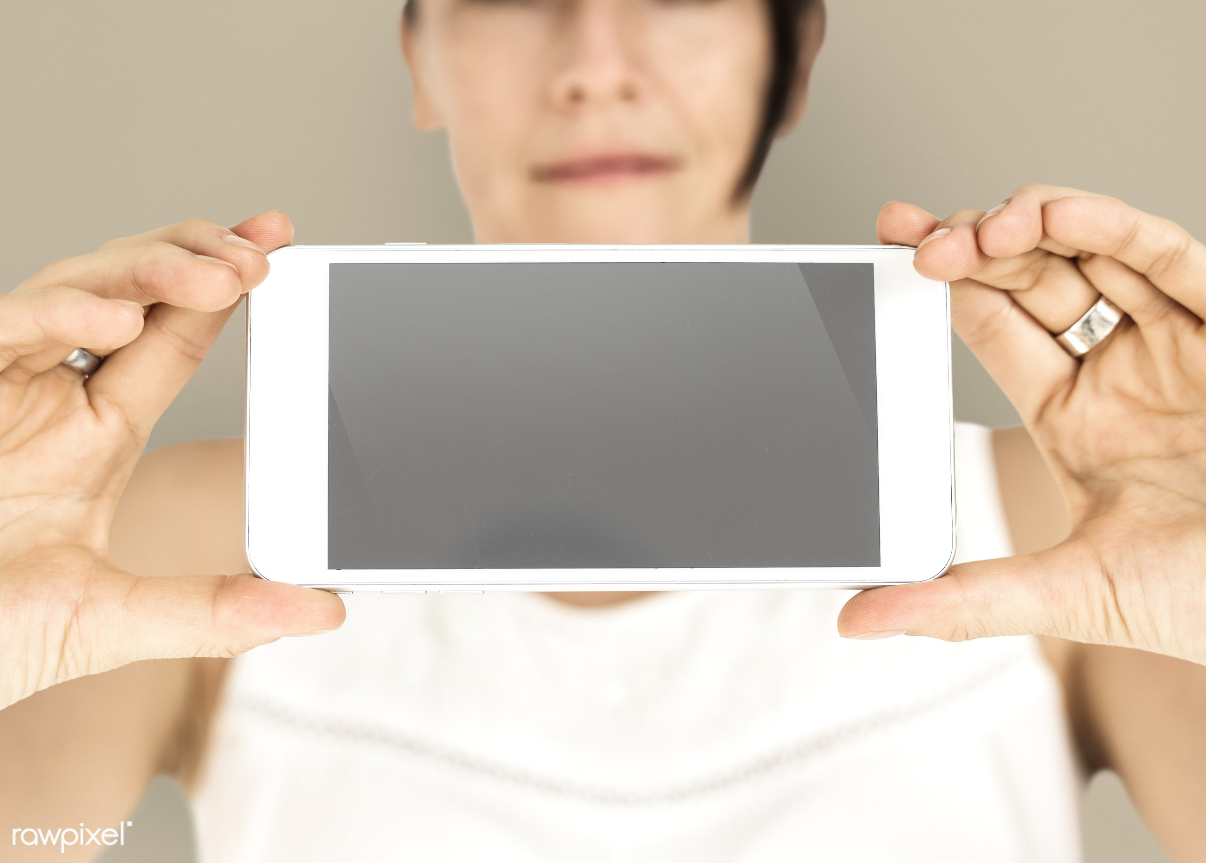 expression, studio, person, phone, portable, technology, holding, object, landscape, people, network, positivity, caucasian...