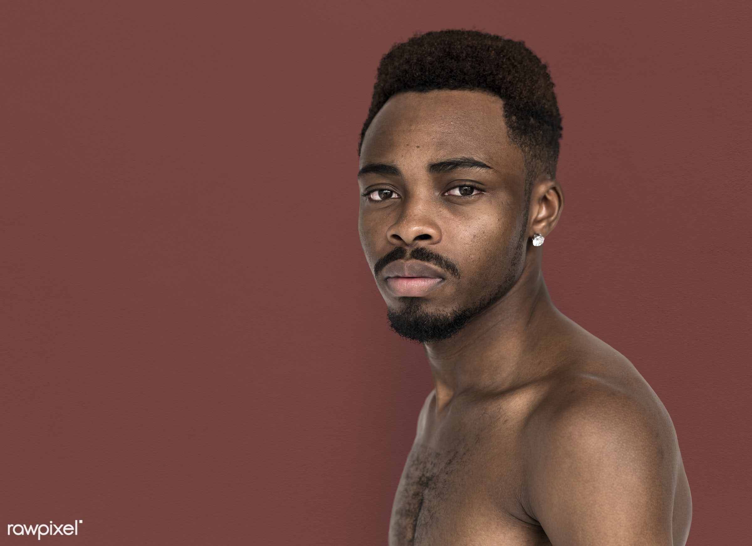 expression, studio, face, pierced ears, person, piercing, people, face expression, men, man, isolated, male, stress, adult,...