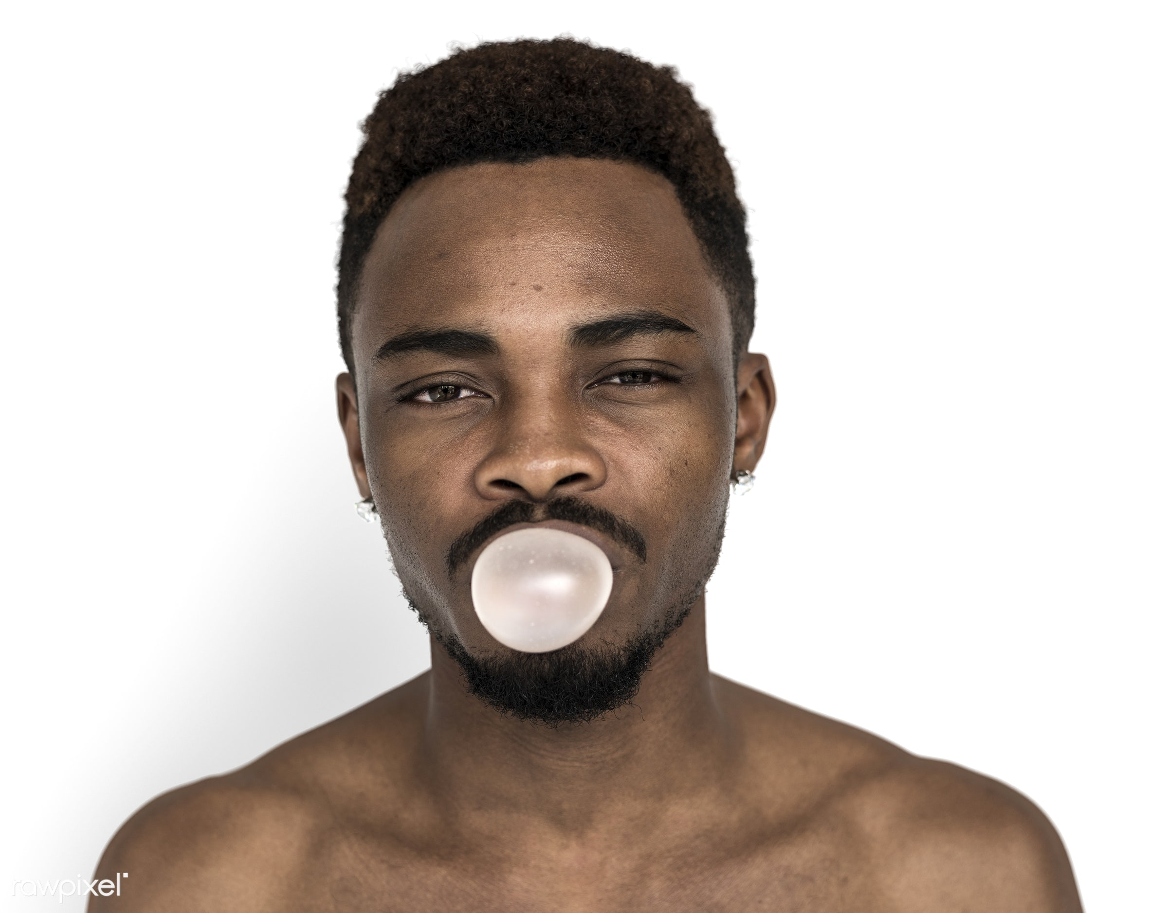 studio, expression, body, face, person, blow bubble, people, chew, face expression, gum, men, chewing gum, blow, cheerful,...