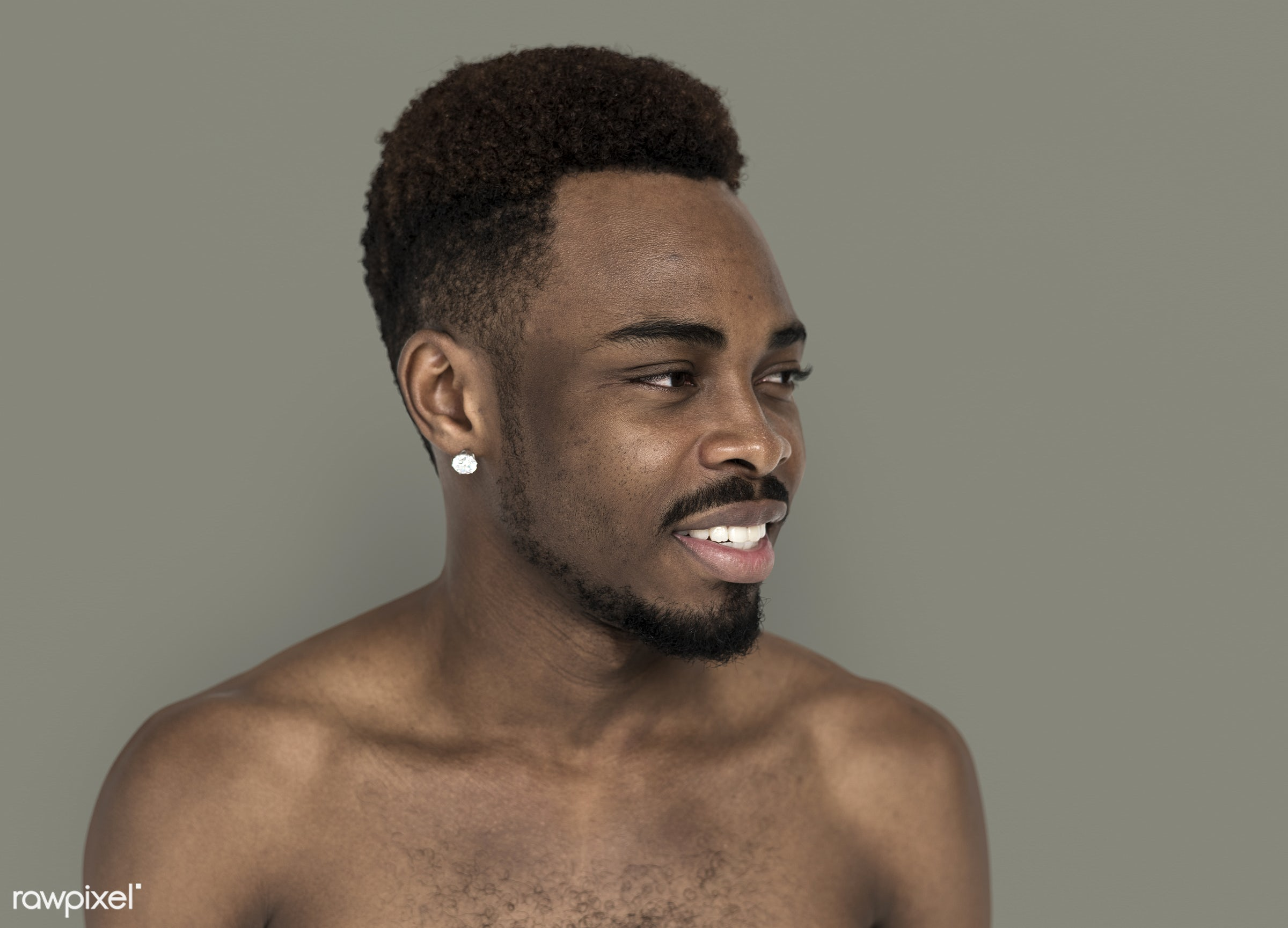 expression, studio, body, face, person, piercing, people, face expression, happy, men, smile, cheerful, man, isolated, male...