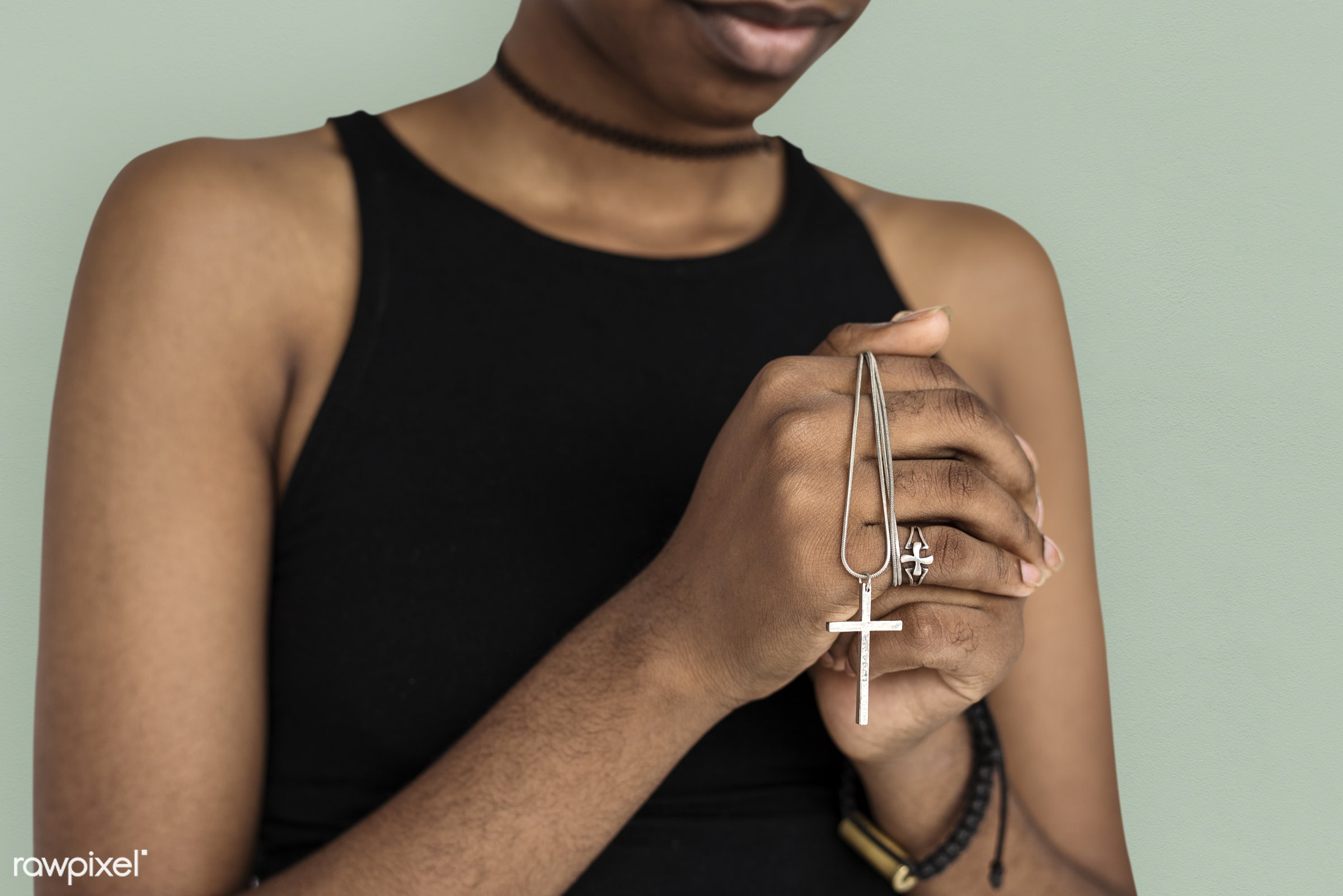 studio, pastel, person, model, believe, race, people, style, solo, woman, lifestyle, casual, beige, pray, feminism, isolated...