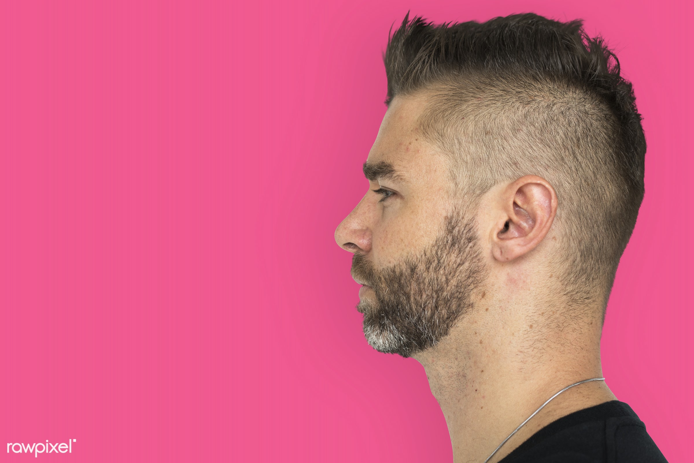 adult, alone, beard, black top, candid, caucasian, confidence, copy space, expression, face, face expression, guy, hair,...