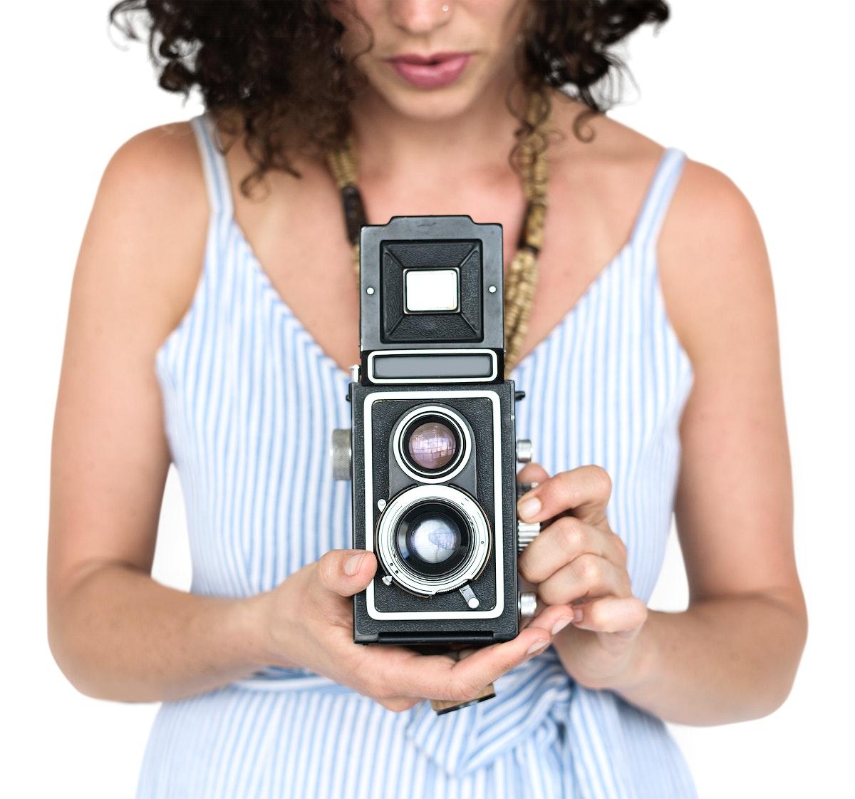 Women Hands Hold Camera Shoot
