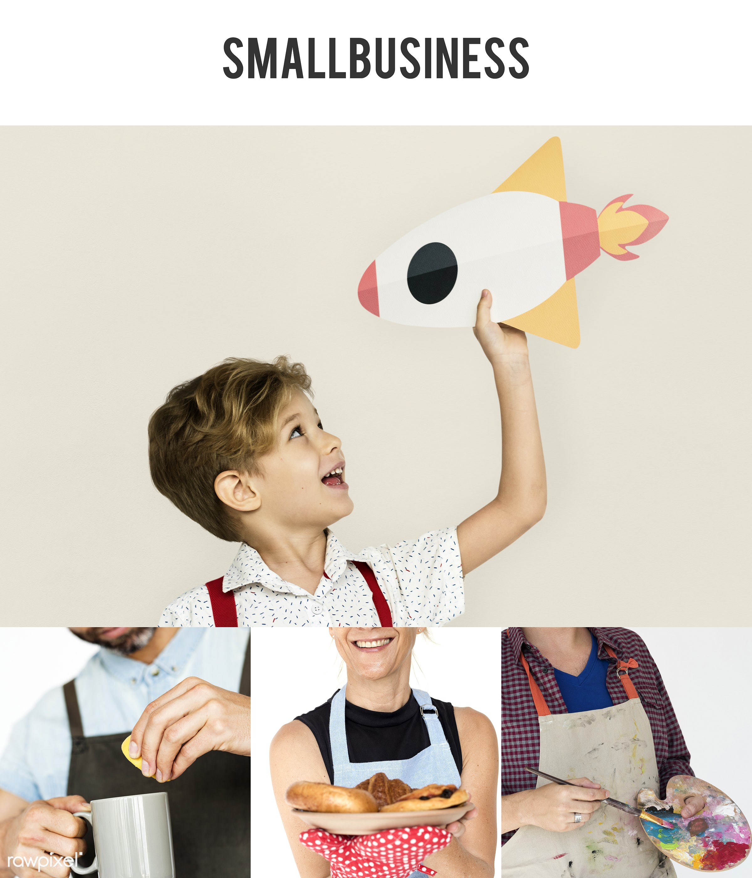 studio, person, small business, set, launch, little, children, collection, people, kid, style, bakery, rocket, woman,...