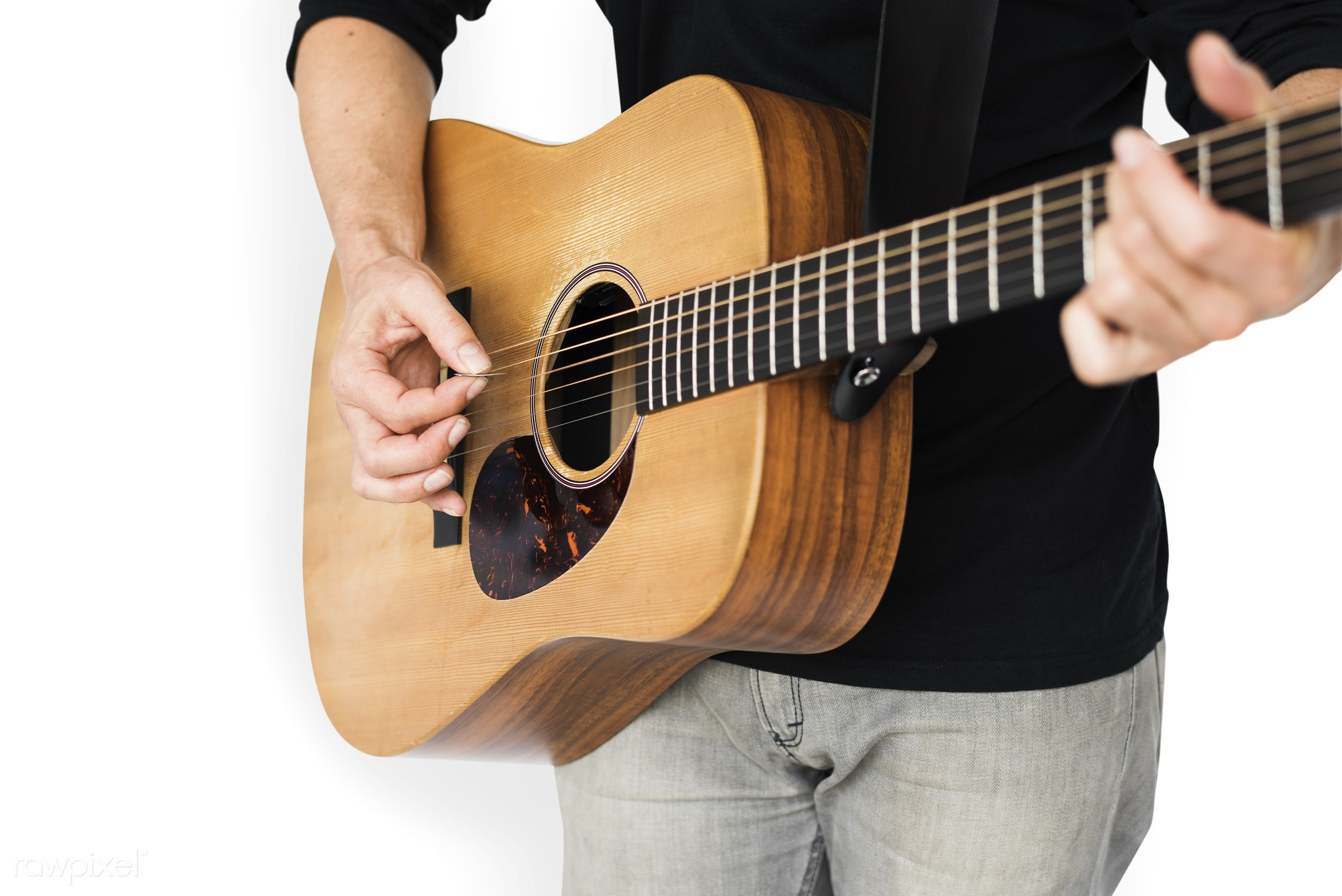 expression, studio, casual attire, person, making music, isolated on white, perform, people, music making, playing, solo,...