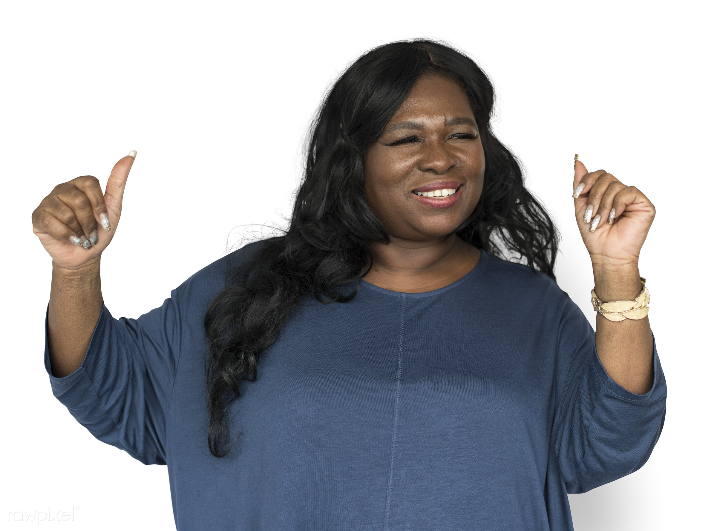 studio, expression, dancing, person, isolated on white, people, girl, woman, happy, smile, cheerful, smiling, black,...
