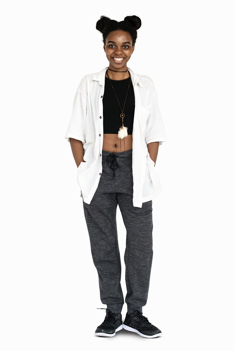 African Descent Girl Casual Smiling