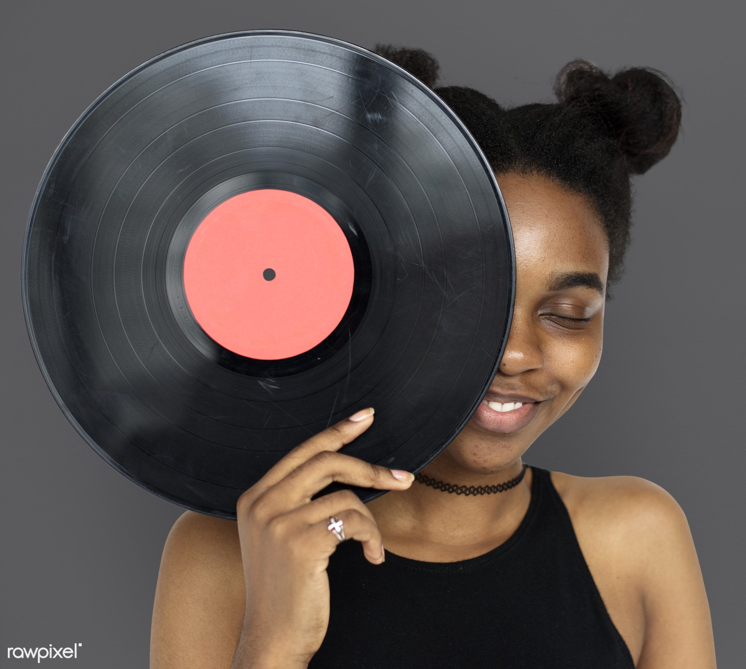 studio, pastel, model, person, retro, race, people, style, woman, lifestyle, casual, vinyl, beige, feminism, music, isolated...