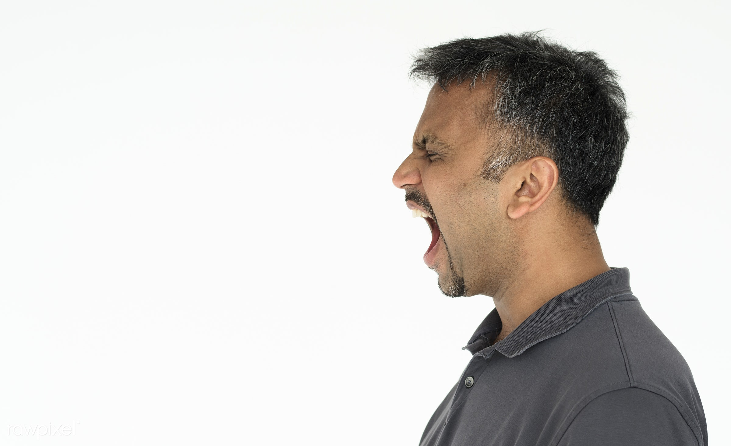 expression, studio, person, voice, indian ethnicity, one, side view, angry, race, people, open, style, lifestyle, casual,...