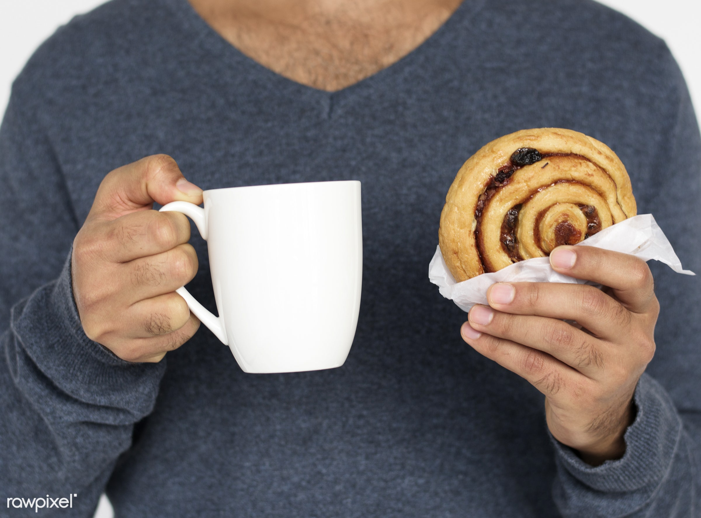 studio, expression, cup, person, model, holding, one, husband, tea, race, people, mug, break, roll, style, bread, casual,...