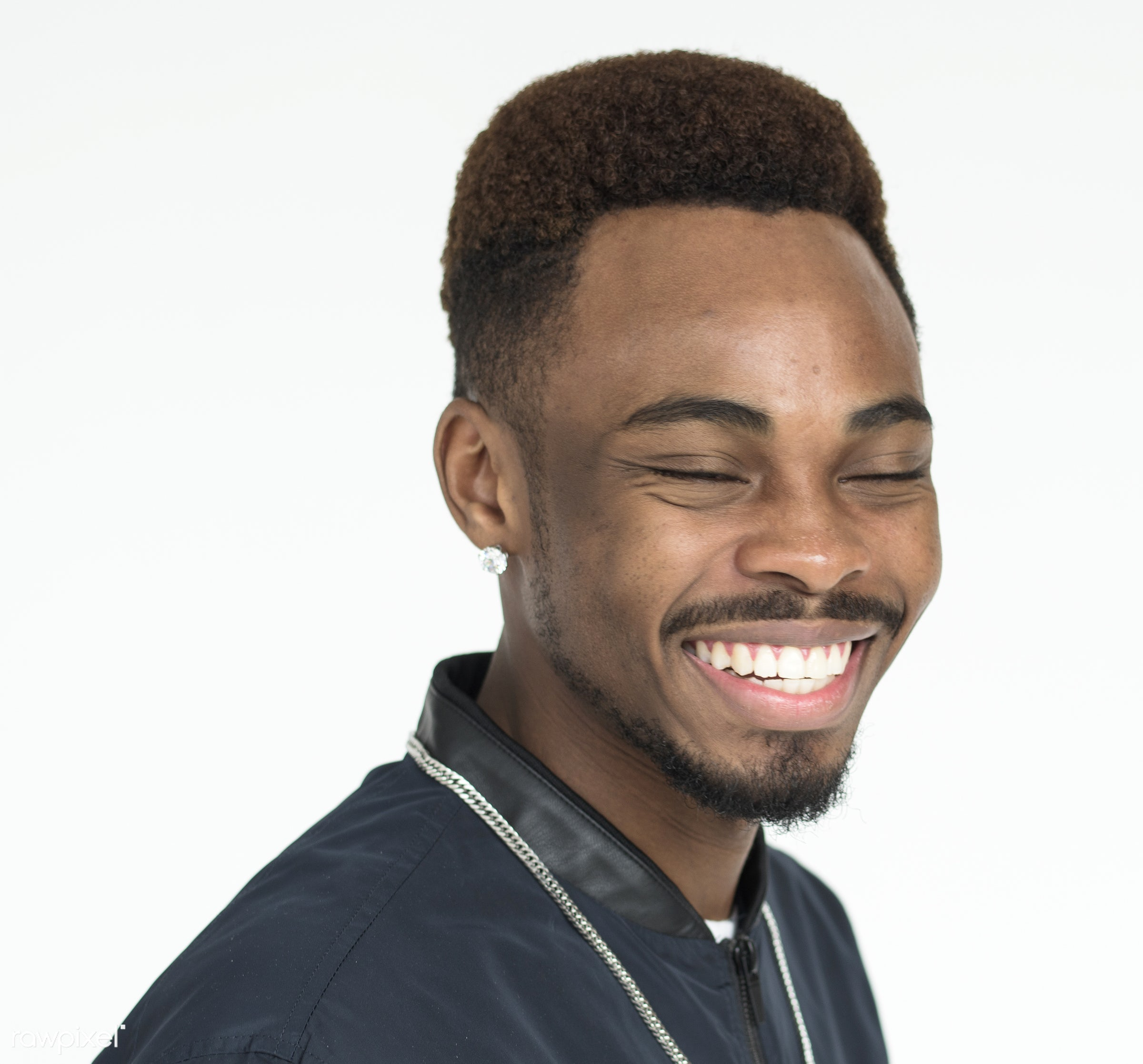 expression, studio, person, one, people, race, style, lifestyle, casual, smile, positive, smiling, man, black, isolated, guy...