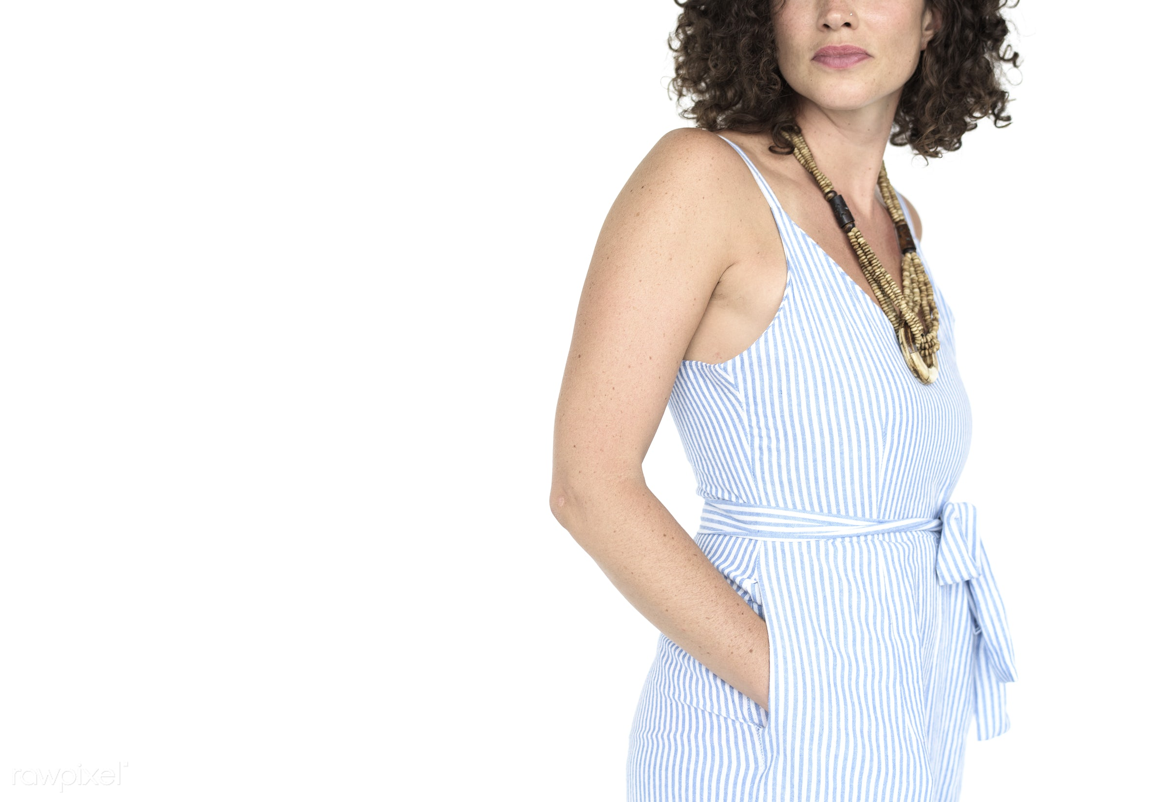 studio, expression, person, model, fashion, jumpsuit, fashionista, isolated on white, trendy, race, people, caucasian, style...