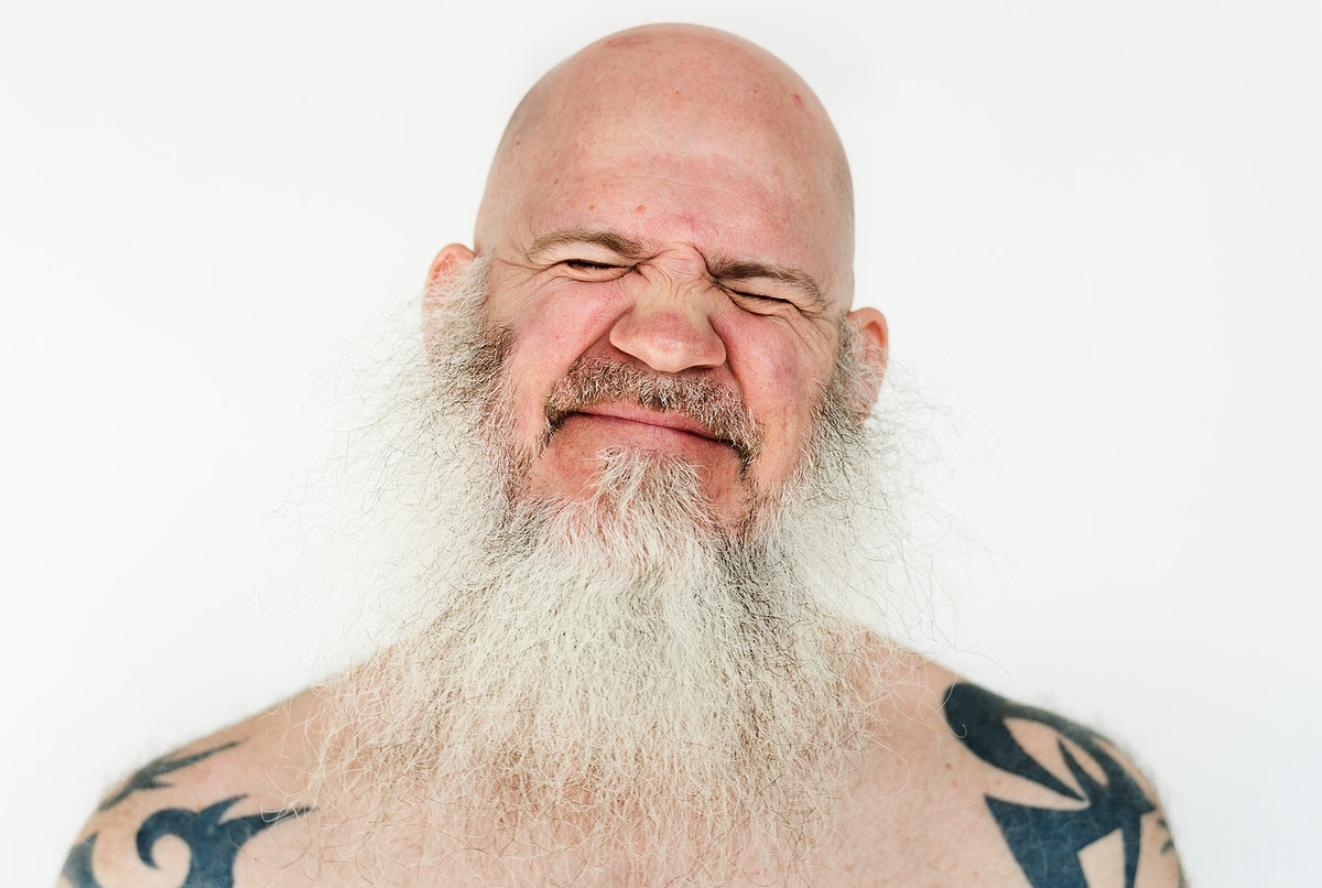 Worldface-Smiling american man in a white background