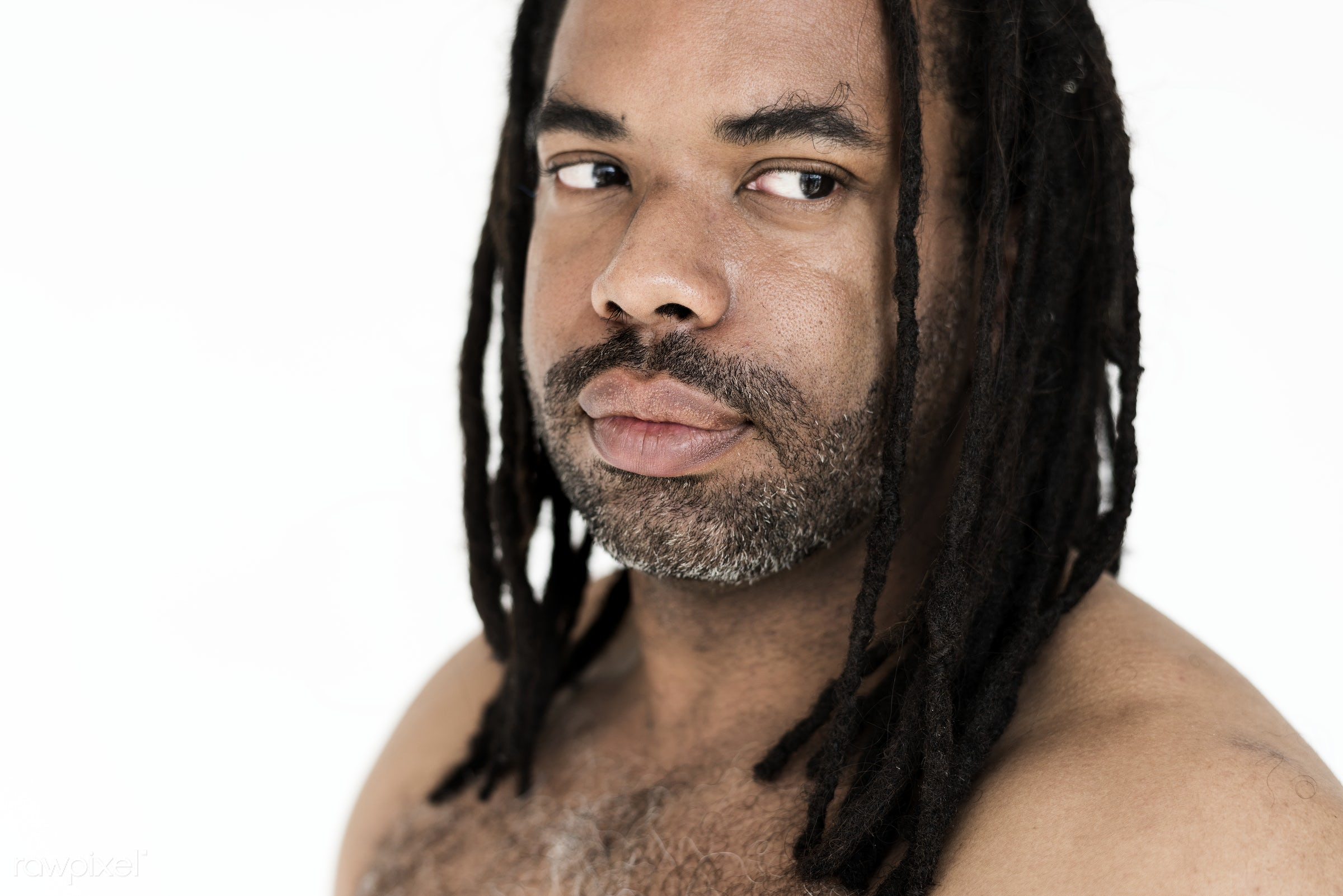 studio, expression, person, model, isolated on white, people, race, style, casual, lifestyle, men, man, isolated, dreadlocks...