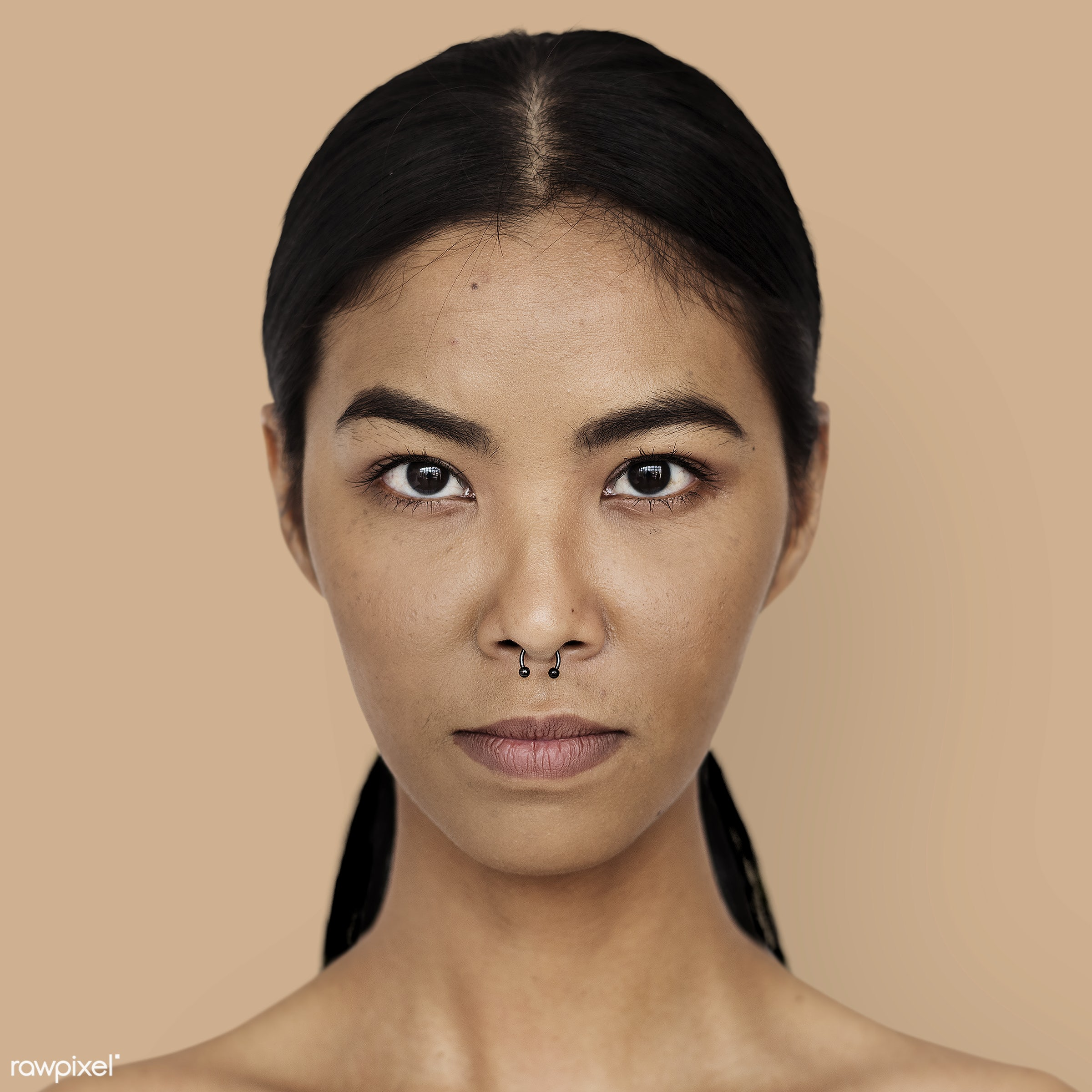 Portrait of a Thai woman - asian, headshot, studio, alone, asia, casual, emotion, expression, face, feeling, isolated,...