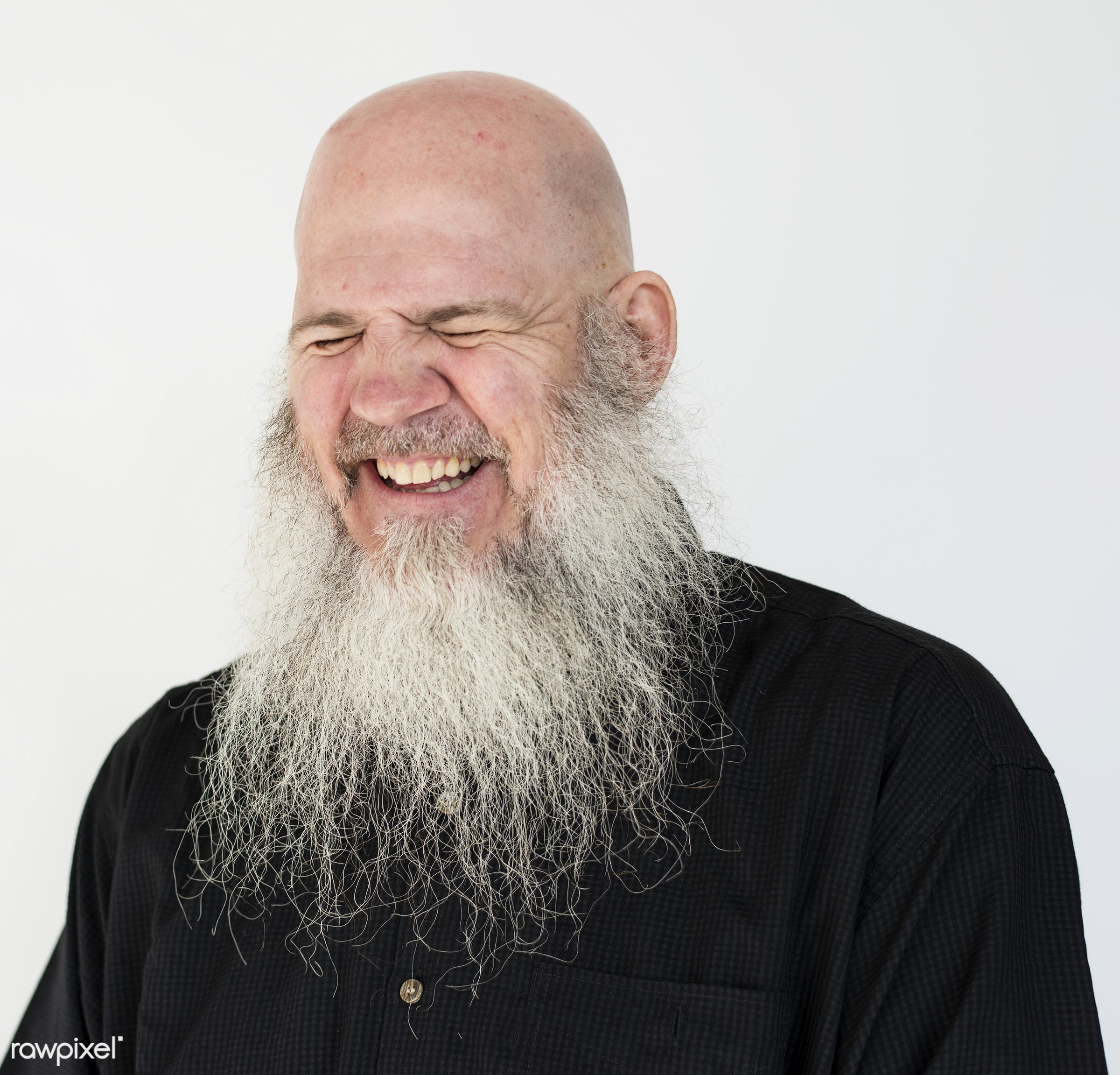 Portrait of a big bearded man - studio, person, model, concept, people, nature, style, stylish, men, smiling, closeup, man,...