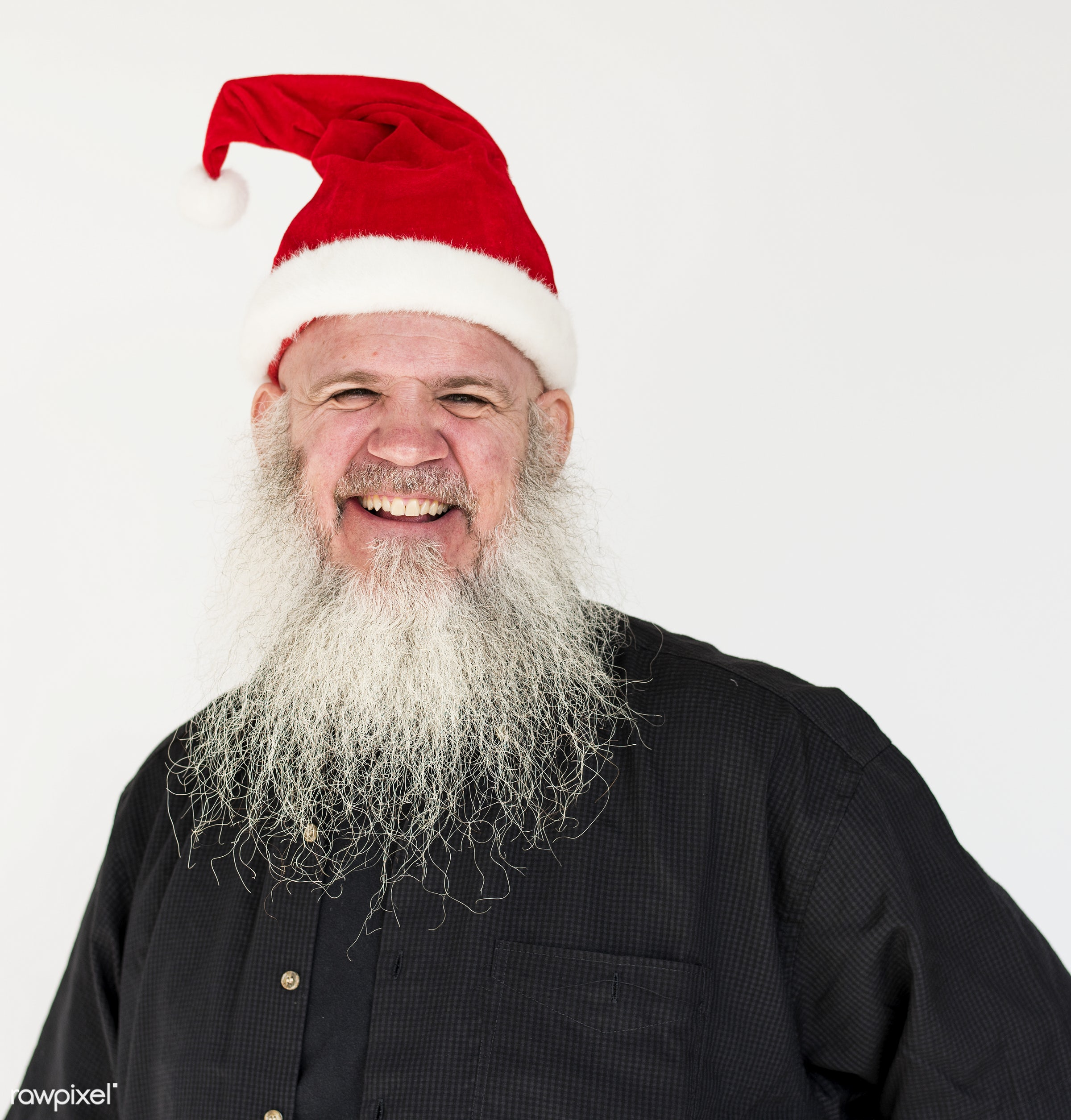 studio, expression, person, model, isolated on white, people, race, hat, style, santa, casual, lifestyle, men, man, isolated...