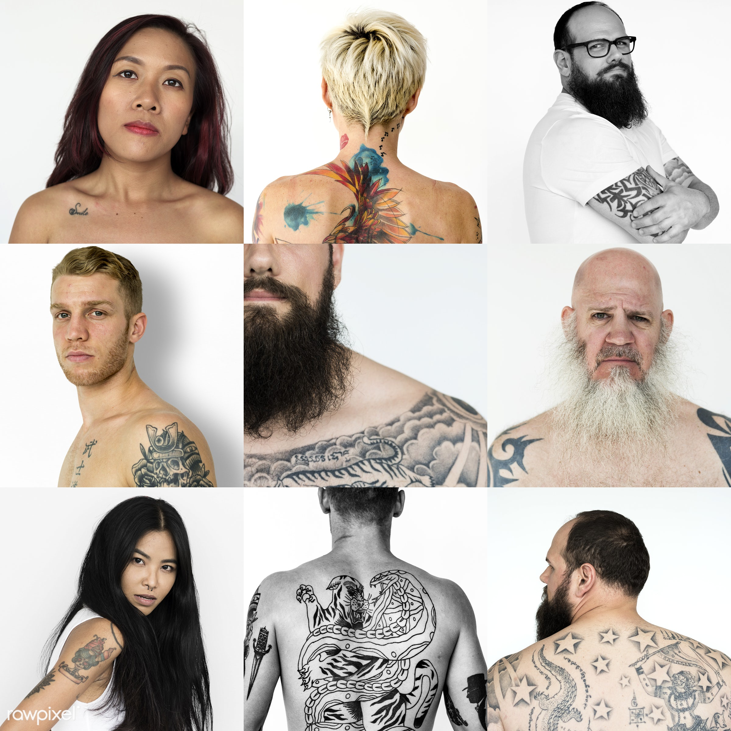 different, studio, playful, diverse, choice, variation, collages, people, race, positivity, style, happy, be happy,...