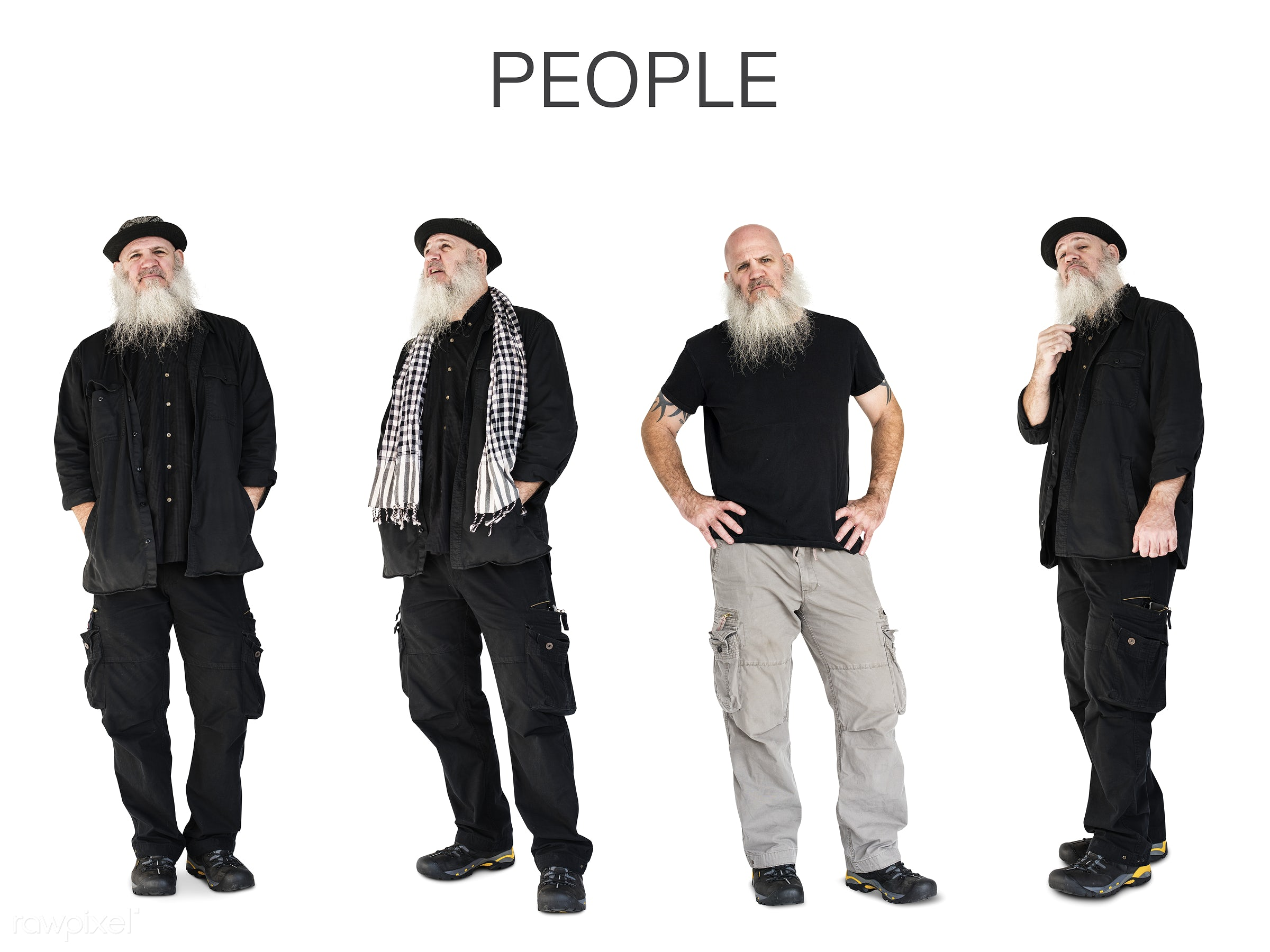 Diverse people set - studio, person, relax, set, collection, people, attraction, caucasian, life, solo, side, attractive,...
