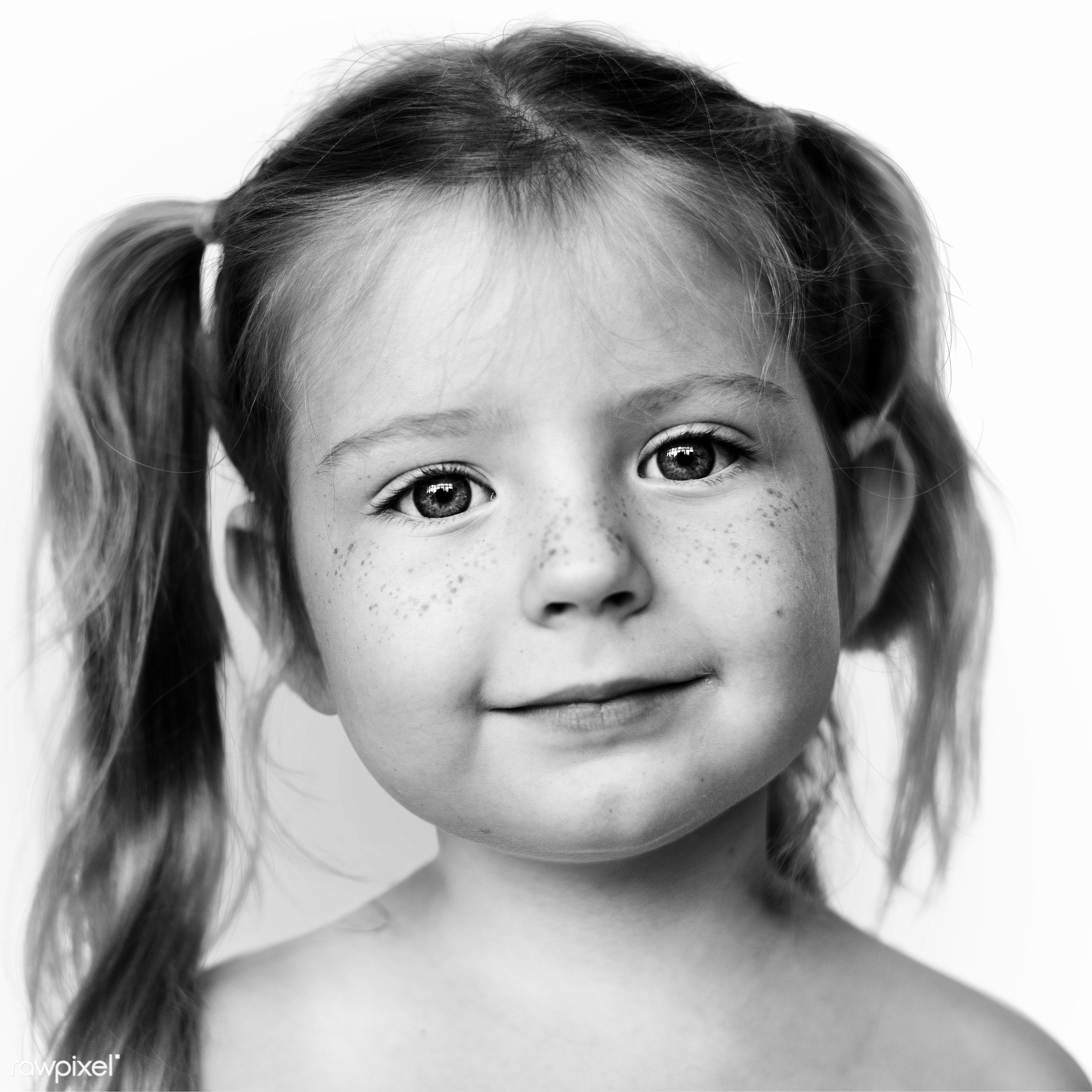 Portrait of a Norwegian girl - alone, black and white, child, closeup, elementary, elementary age, emotion, europe, european...