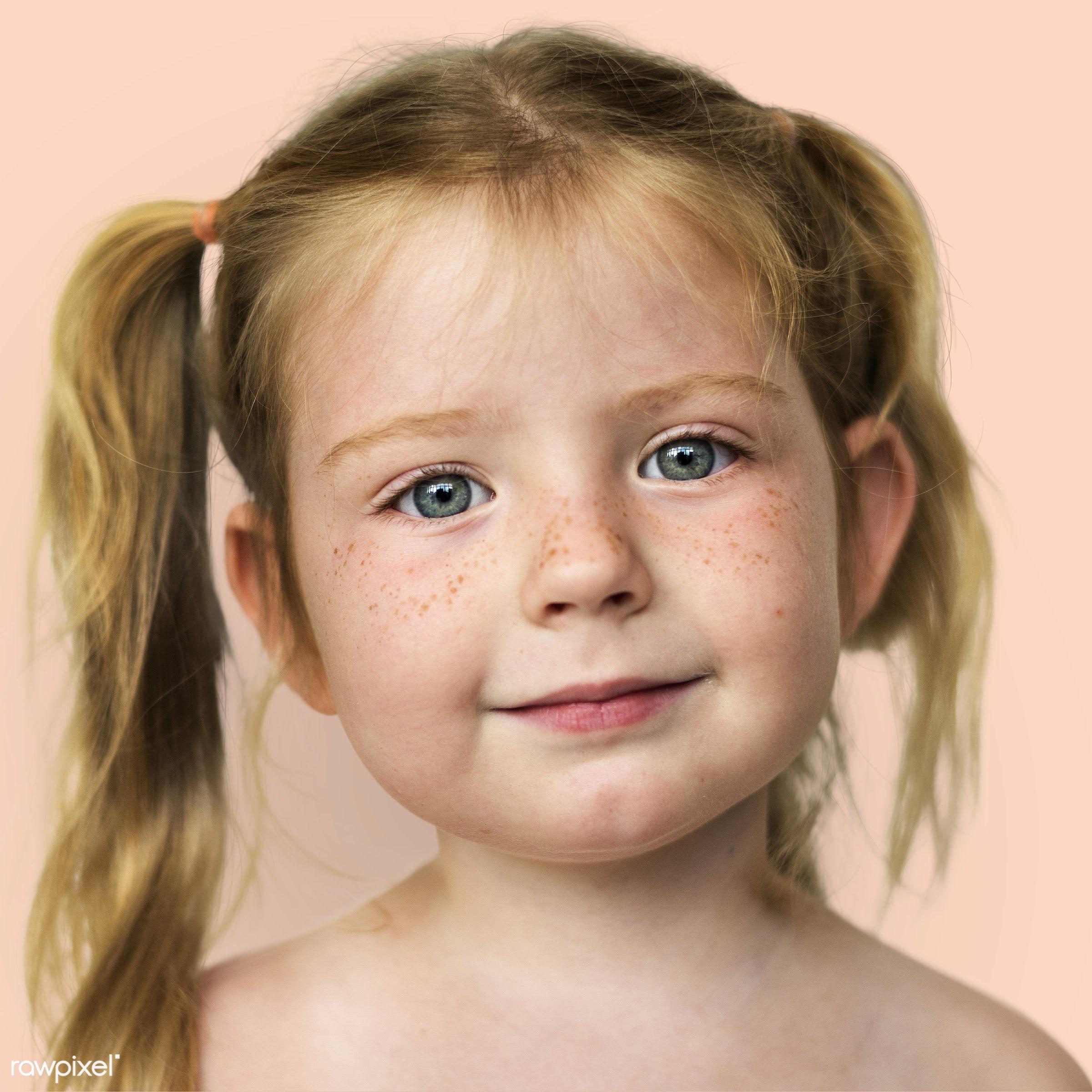Portrait of a Norwegian girl - alone, caucasian, child, closeup, elementary, elementary age, emotion, europe, european,...