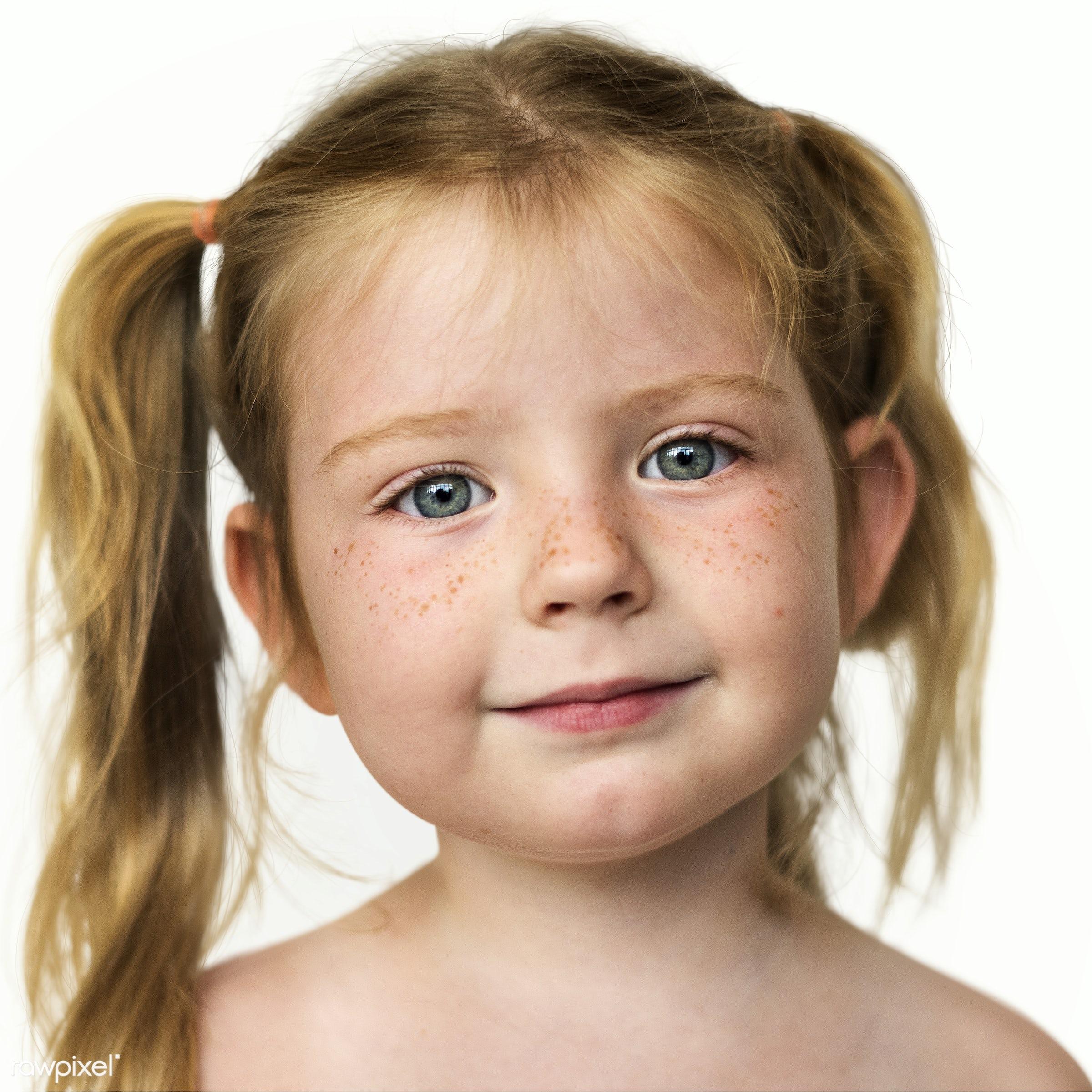 Portrait of a Norwegian girl - child, alone, closeup, elementary, elementary age, emotion, europe, european, expression,...