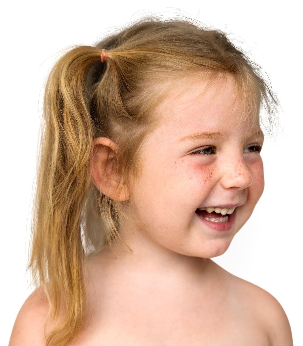 Little Girl Face Expression Portrait