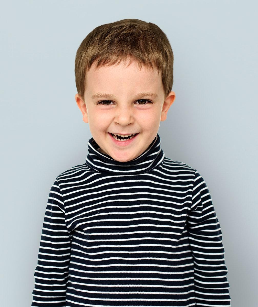 Little Boy Face Expression Portrait