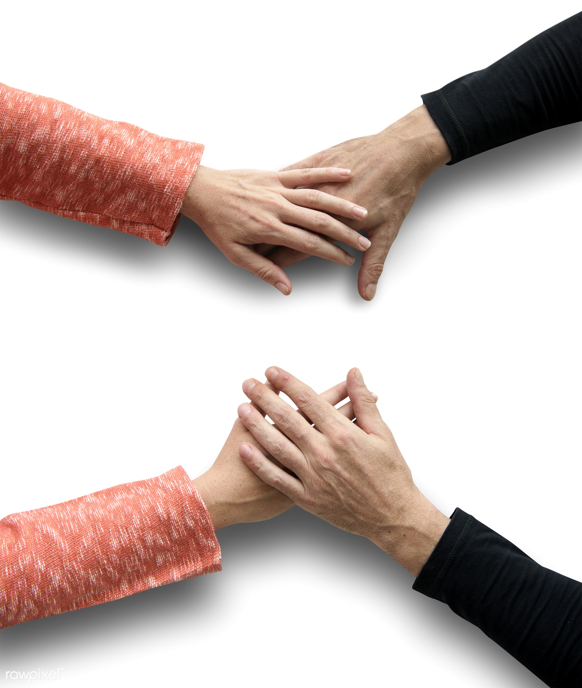 aerial view, action, background, bonding, care, communication, connection, fingers, five fingers, gesture, greeting, hands,...