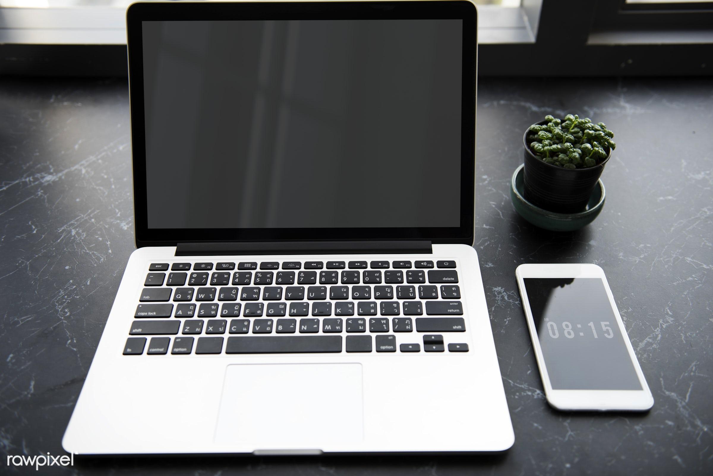 computer, interior, phone, technology, indoor, work table, workplace, desk, digital, business, modern, mobile phone, laptop...