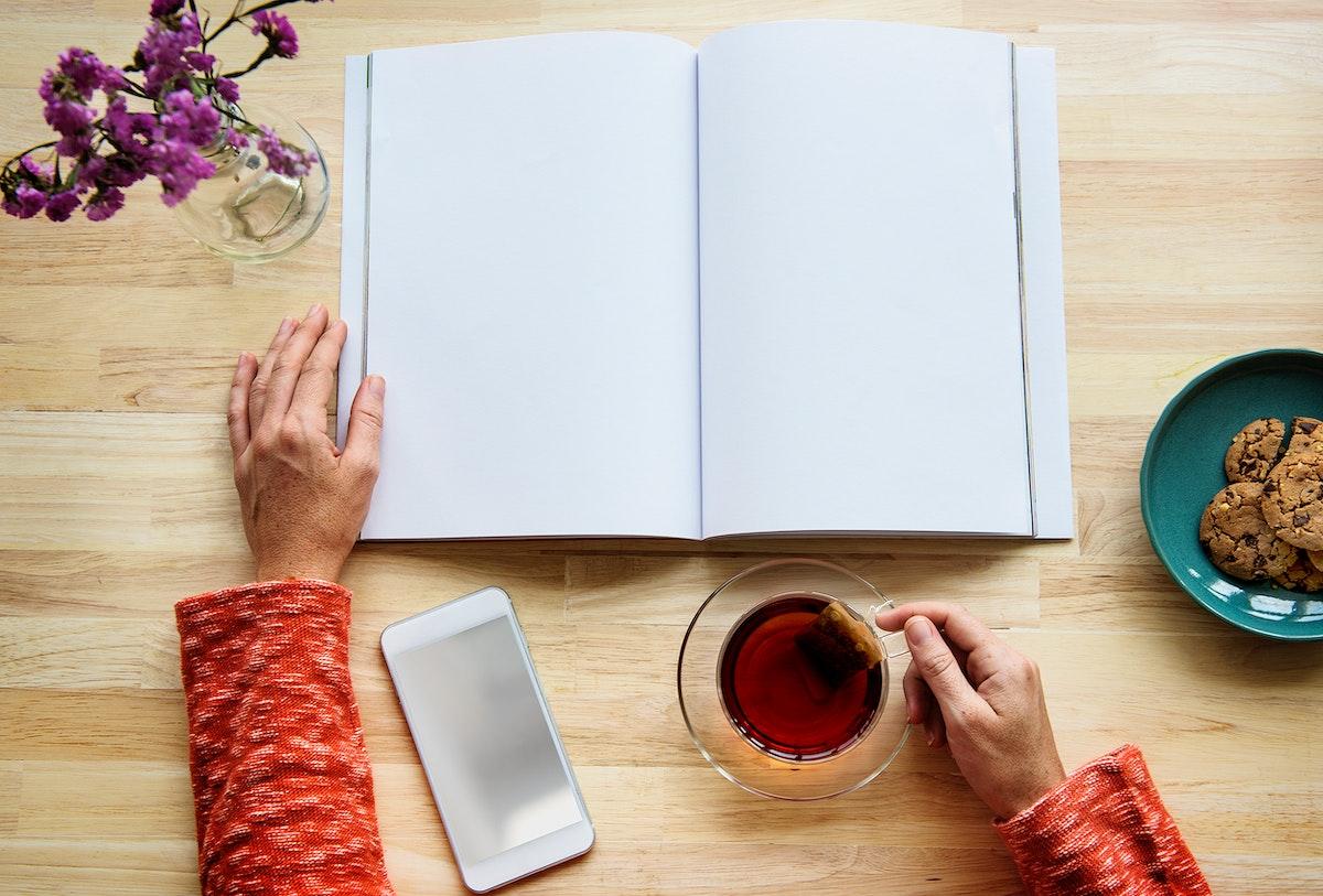 Notebook Book Paper Tea Flower