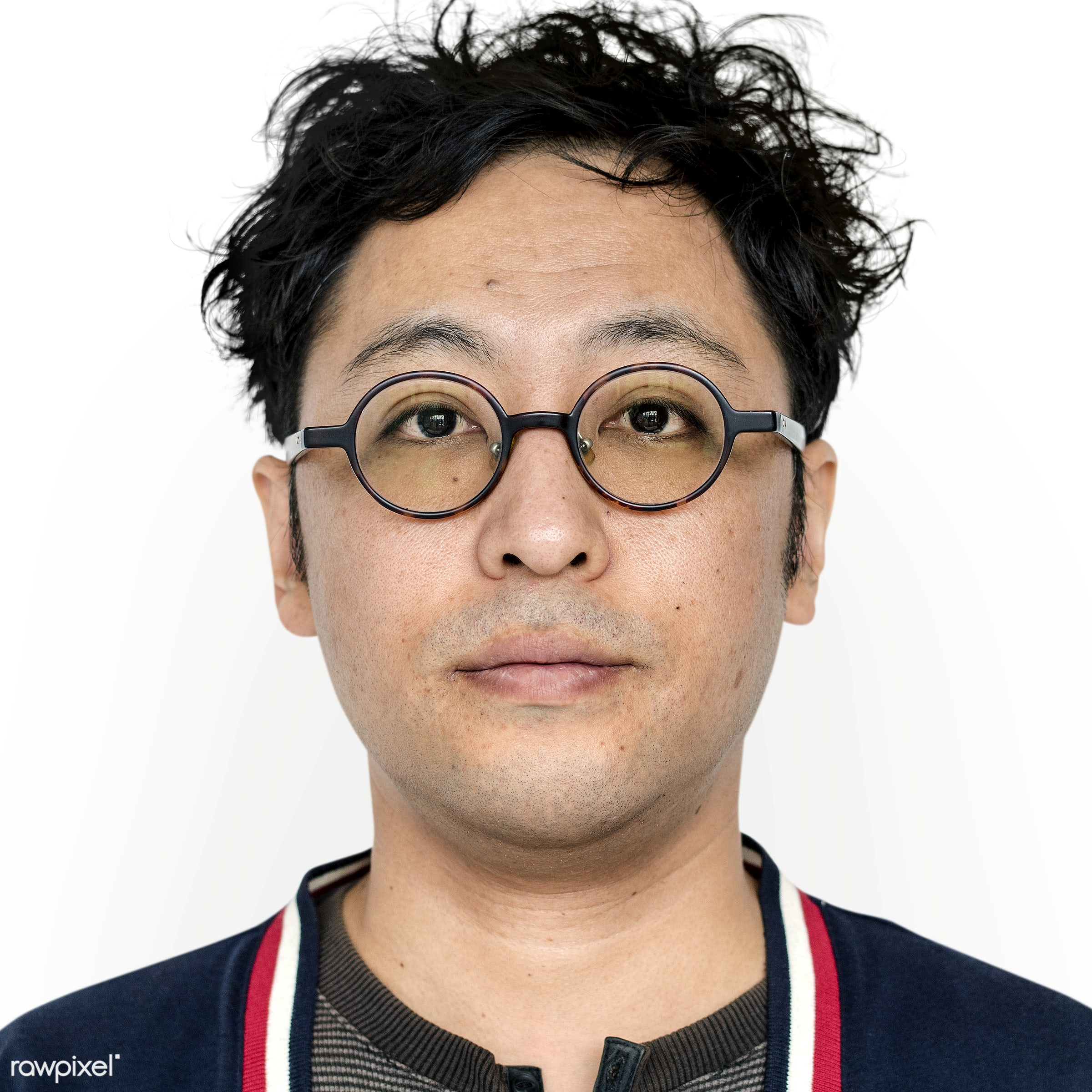 Portrait of a Japanese man - portrait, asia, asian, dude, eyeglasses, gesture, guy, japan, japanese, man, person, posing,...