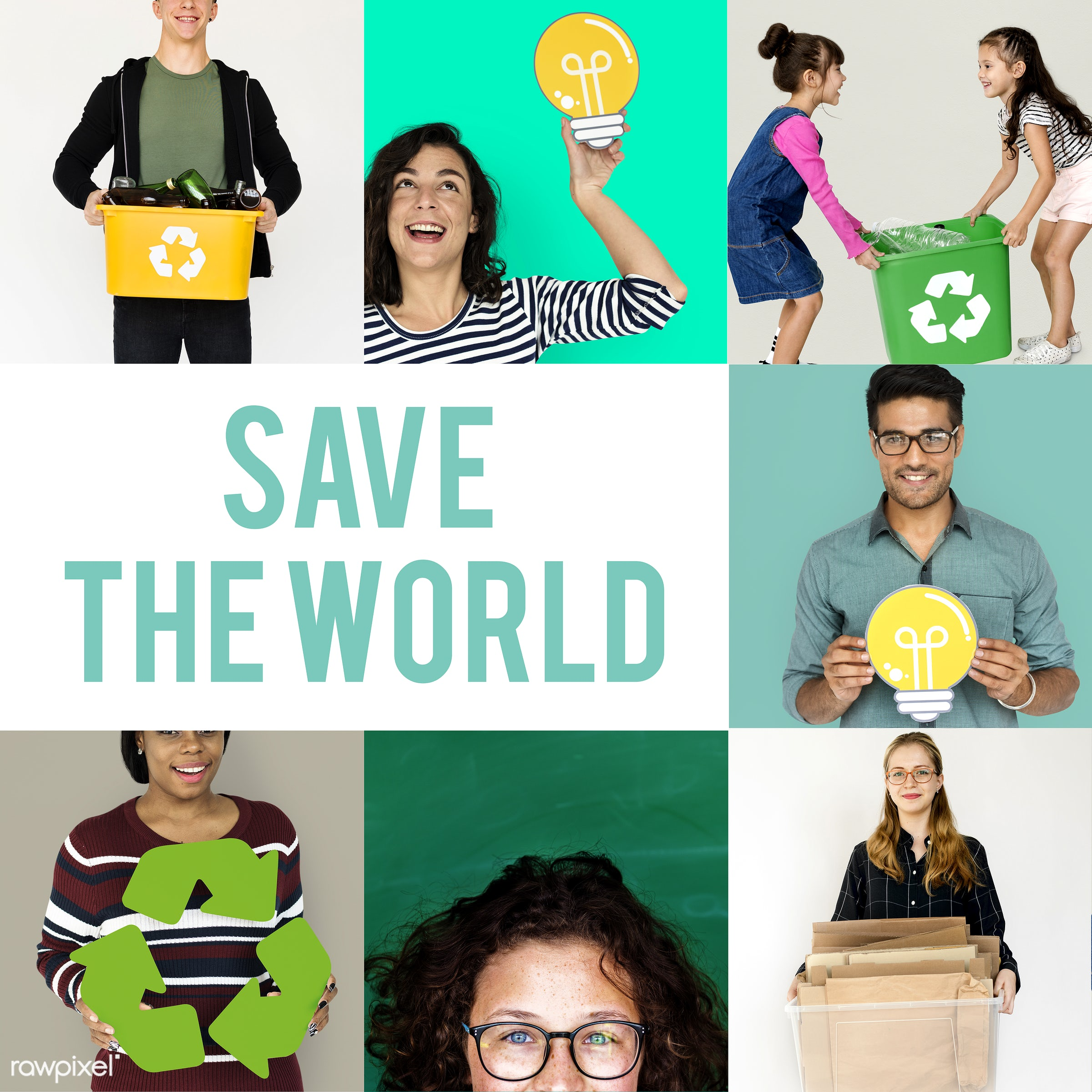 studio, save, diverse, collages, environmental conservation, people, nature, woman, lifestyle, go green, isolated, global,...