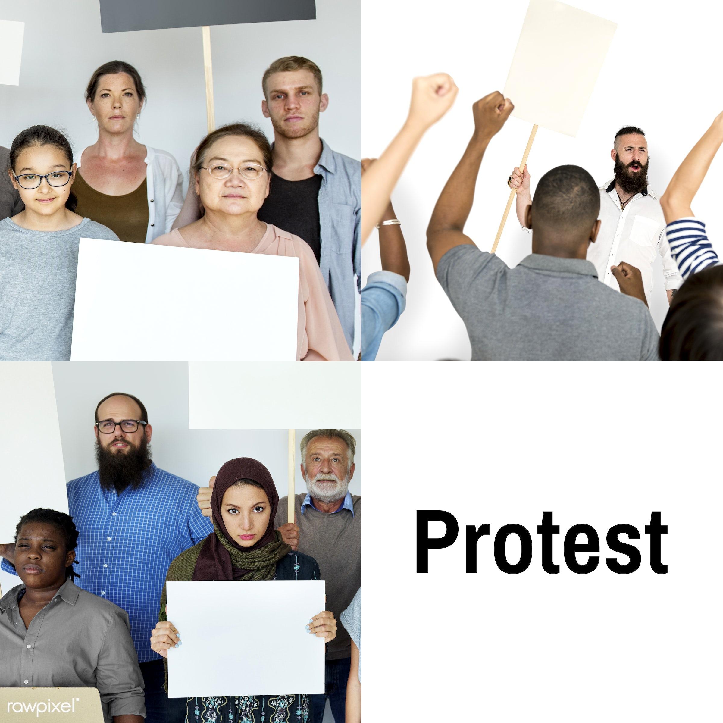 different, diverse, protest, variation, object, people, race, integration, disapproval, gender, refusal, complaint, revolt,...