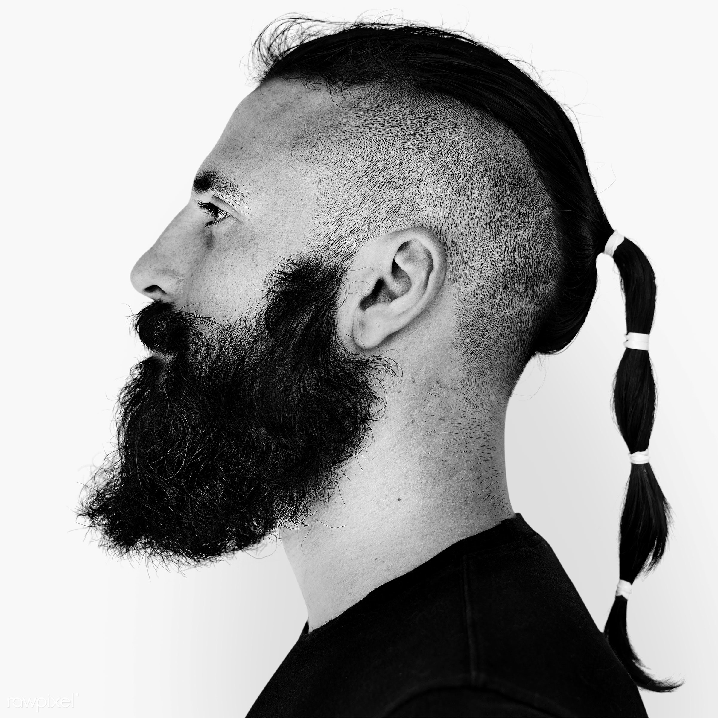 Portrait of an Italian man - beard, black and white, emotion, europe, european, expression, face, feeling, grayscale, hair...