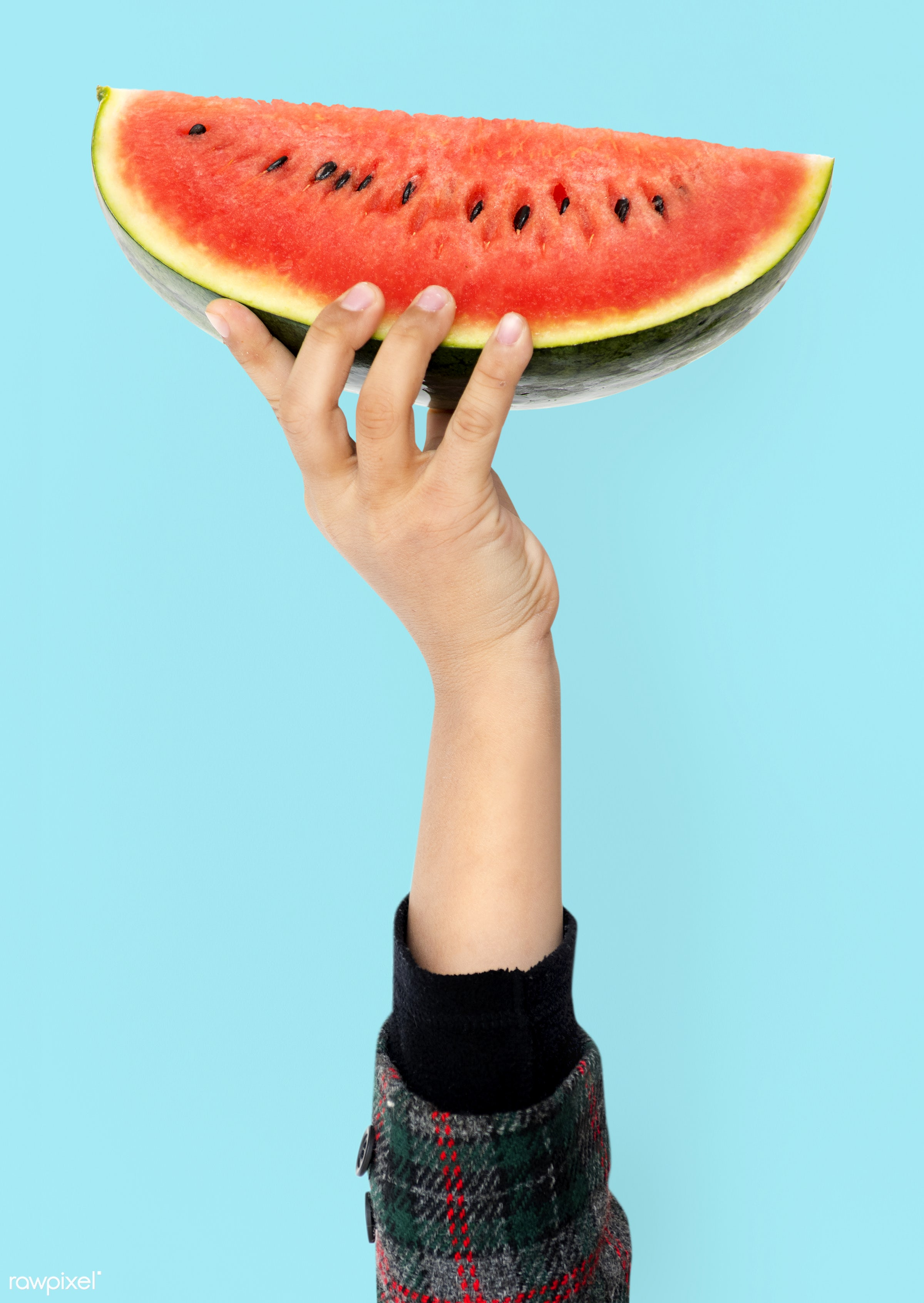 background, berry, closeup, dessert, diet, female, food, fresh, fruit, hand, healthy, holding, isolated, juicy, melon,...