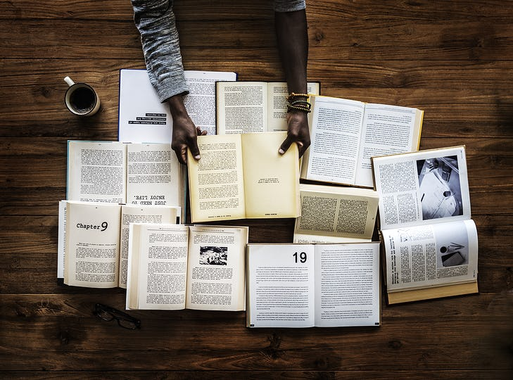 People Hands Hold Blank Books Empty Pages