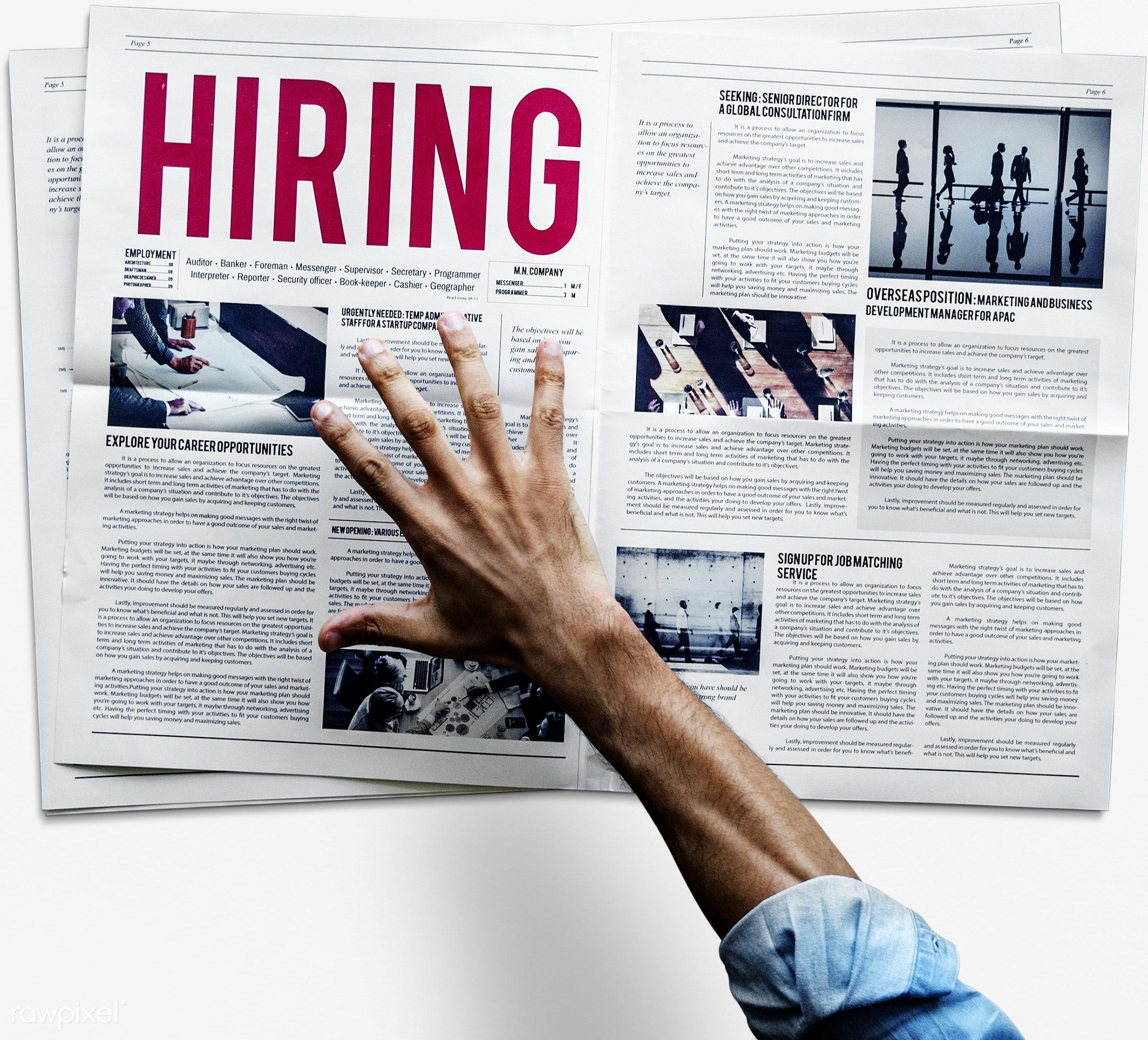 recruiting, recruitment, ability, announcement, career, employment, find, hand, help, hire, hiring, human hand, information...