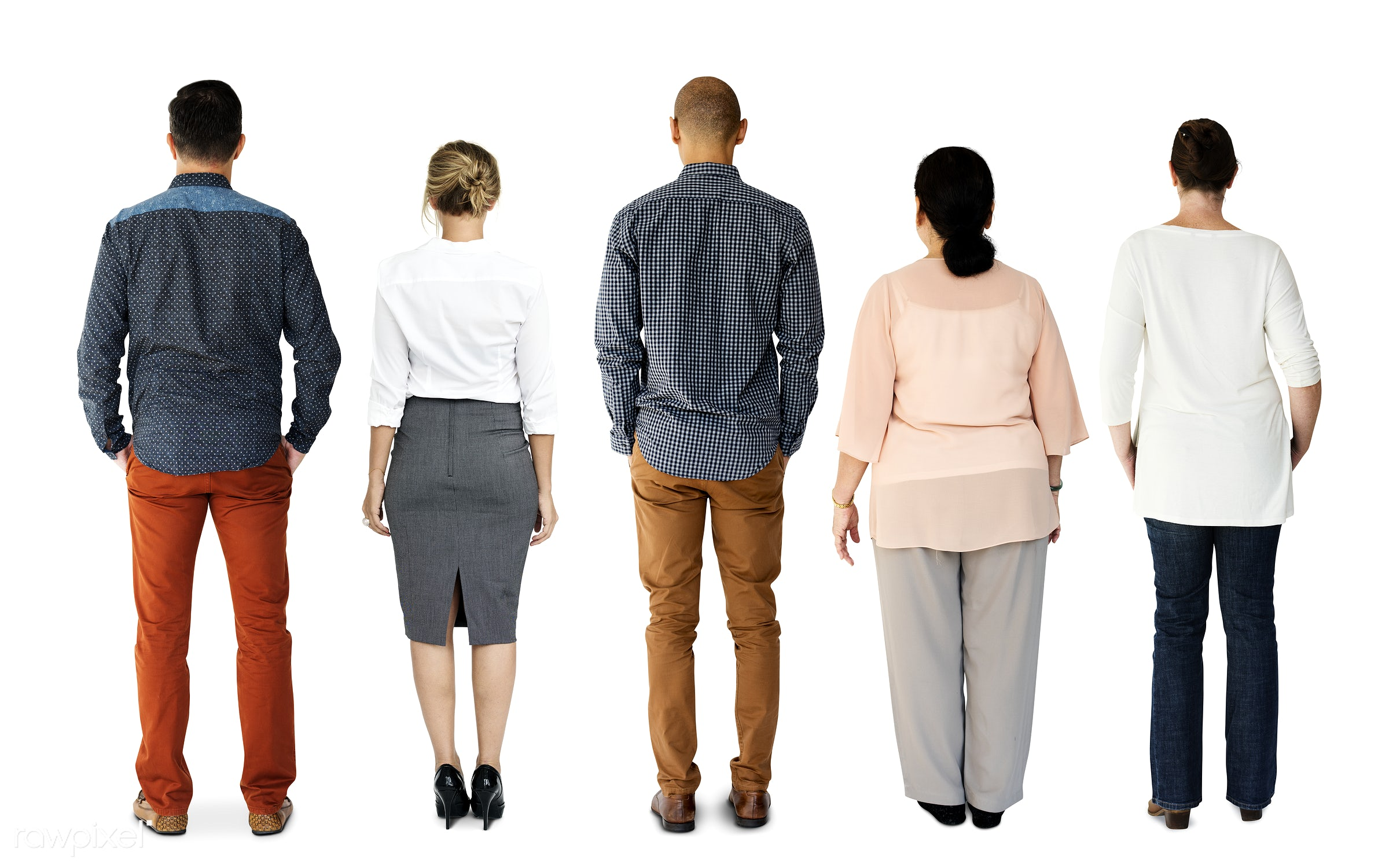 Diverse people set - gentlemen, studio, person, diverse, set, retired, retire, collection, people, attraction, together,...